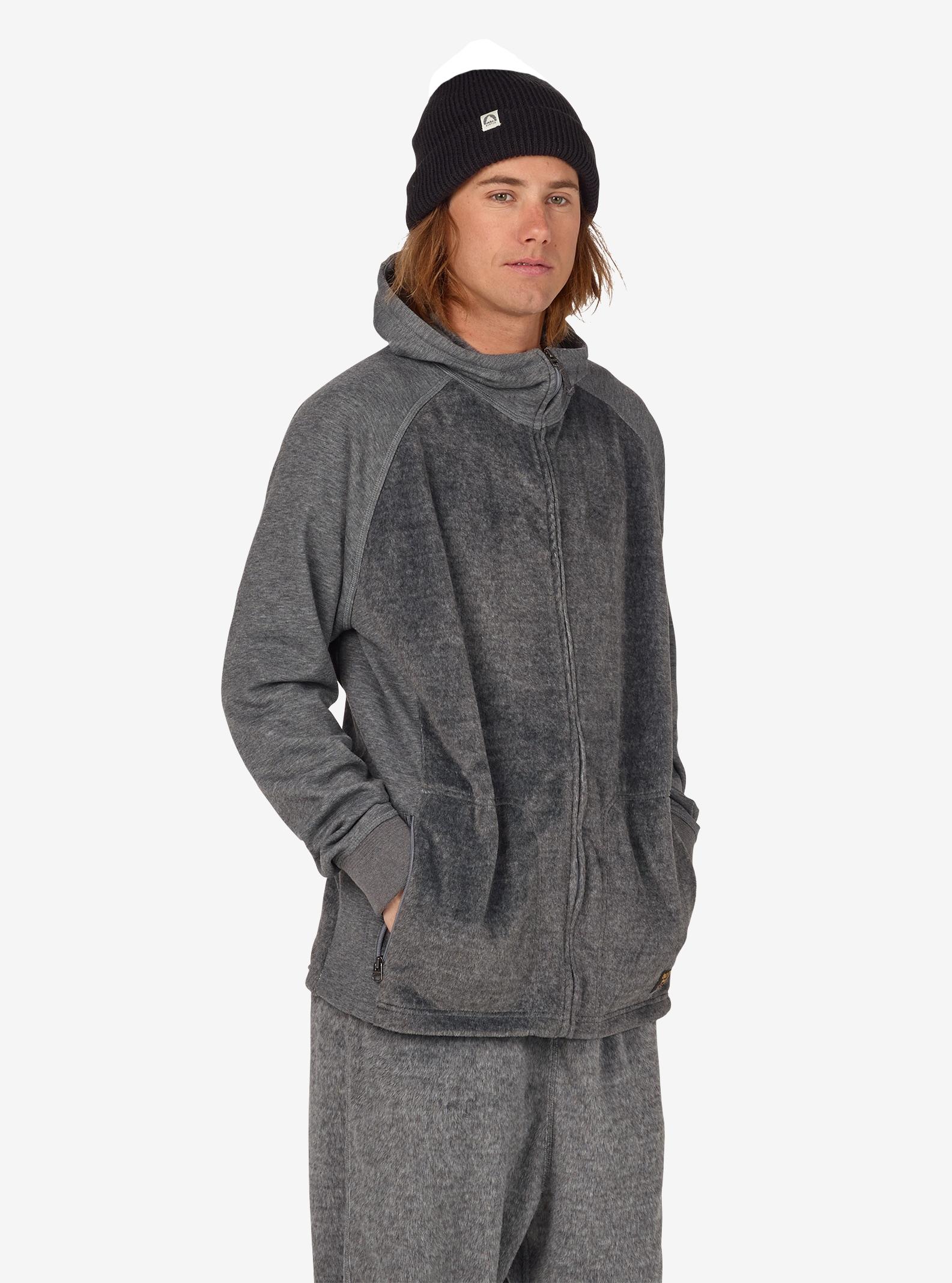 Men's Burton Rolston Full-Zip Fleece shown in Gray Heather