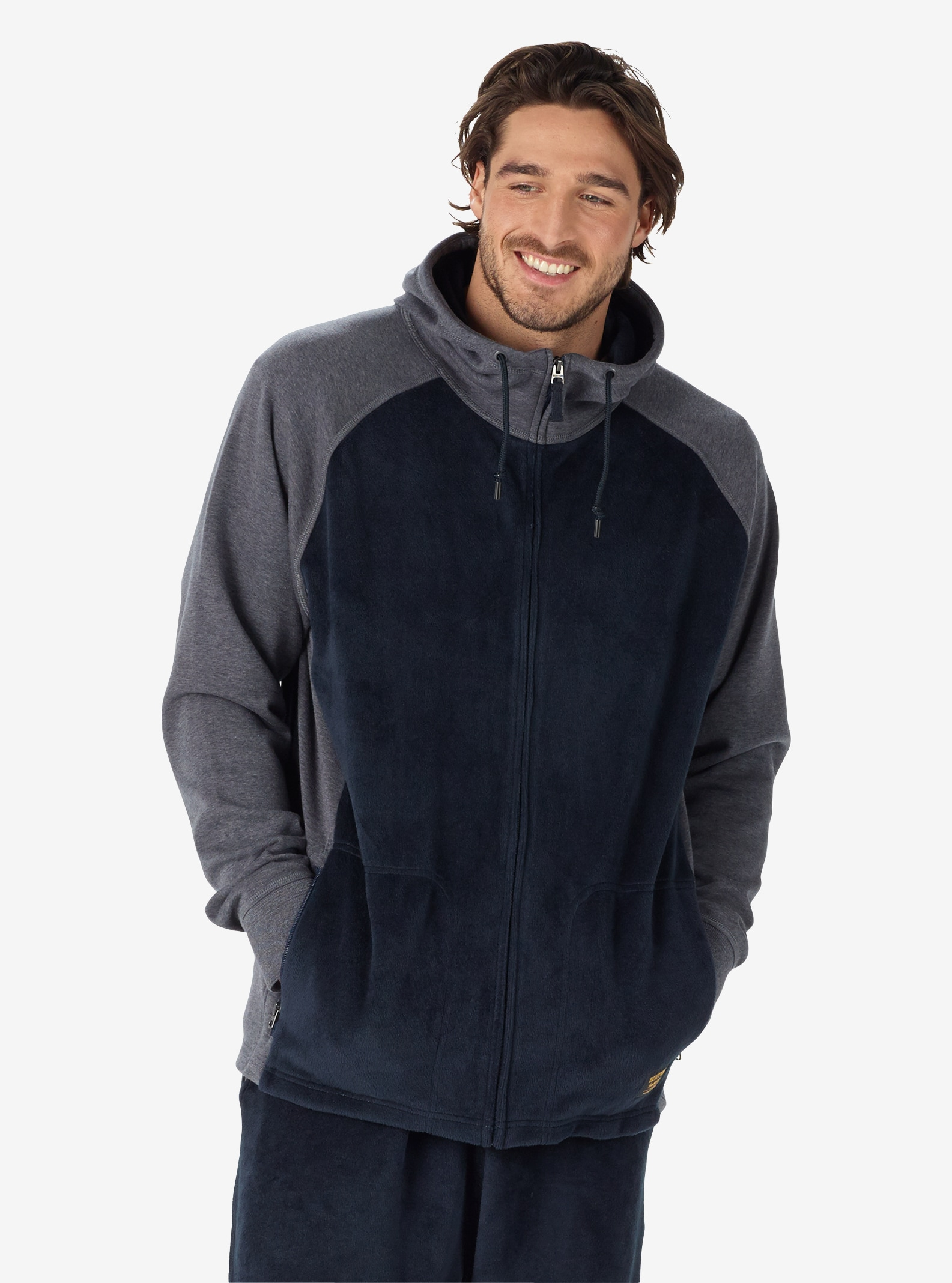 Men's Burton Rolston Full-Zip Fleece shown in Mood Indigo Heather