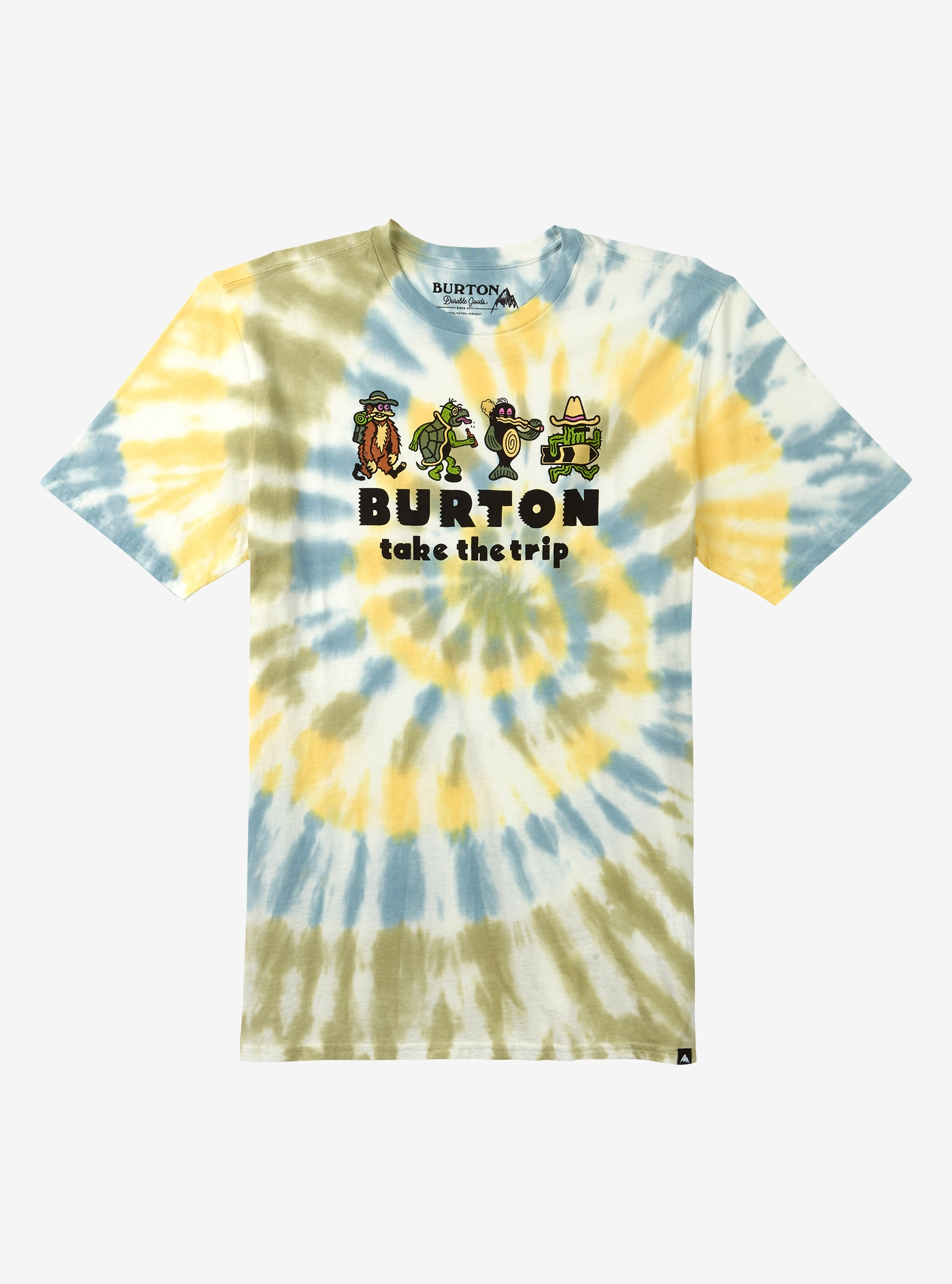 Men's Burton Kodiak Short Sleeve T Shirt shown in Spiral Dye