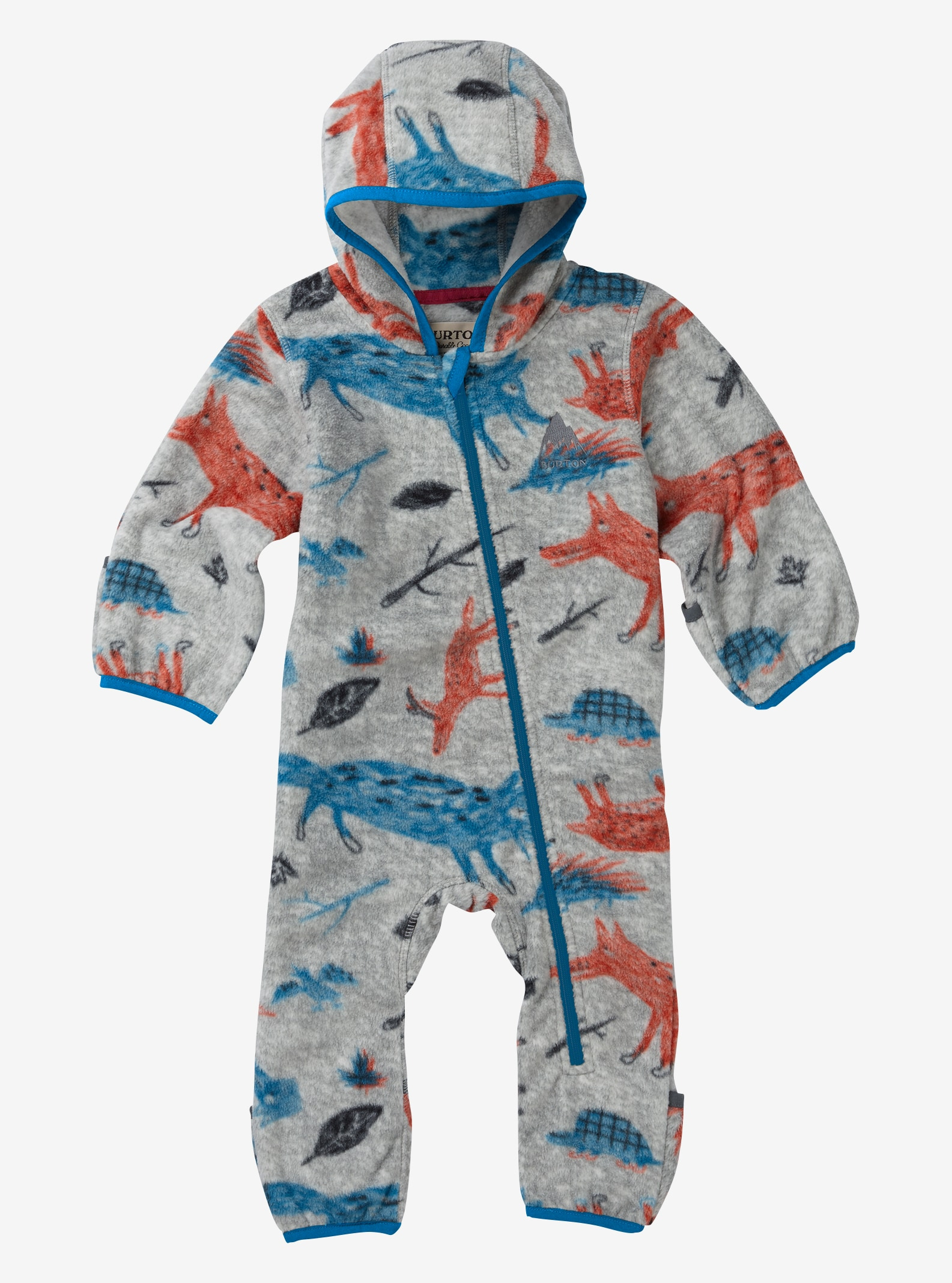 Kids' Burton Mini Fleece Onesie shown in Big Bad Wolf
