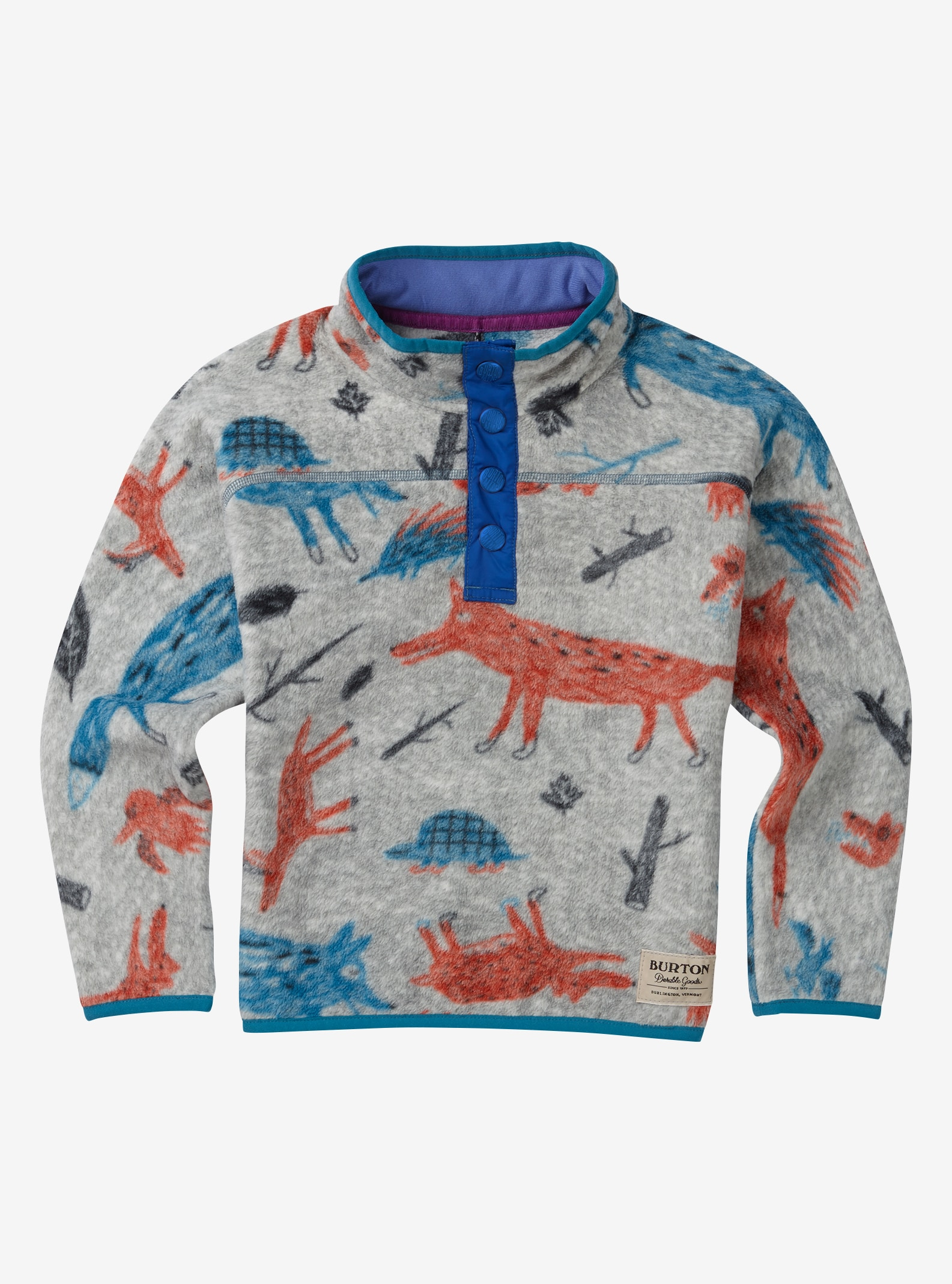 Kids' Burton Mini Spark Fleece shown in Big Bad Wolf