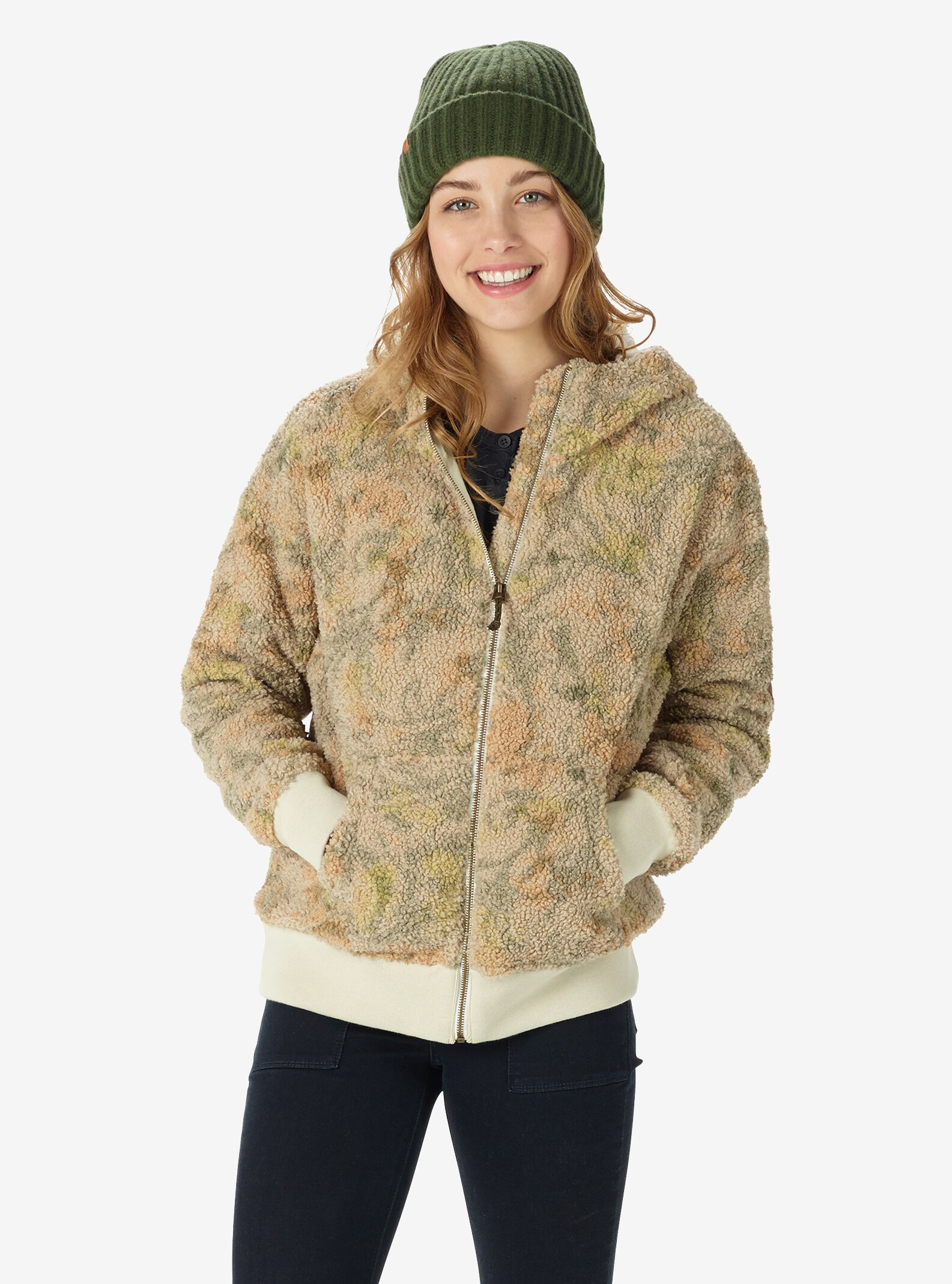 Women's Burton Lynx Full-Zip Fleece shown in Tapestry Camo