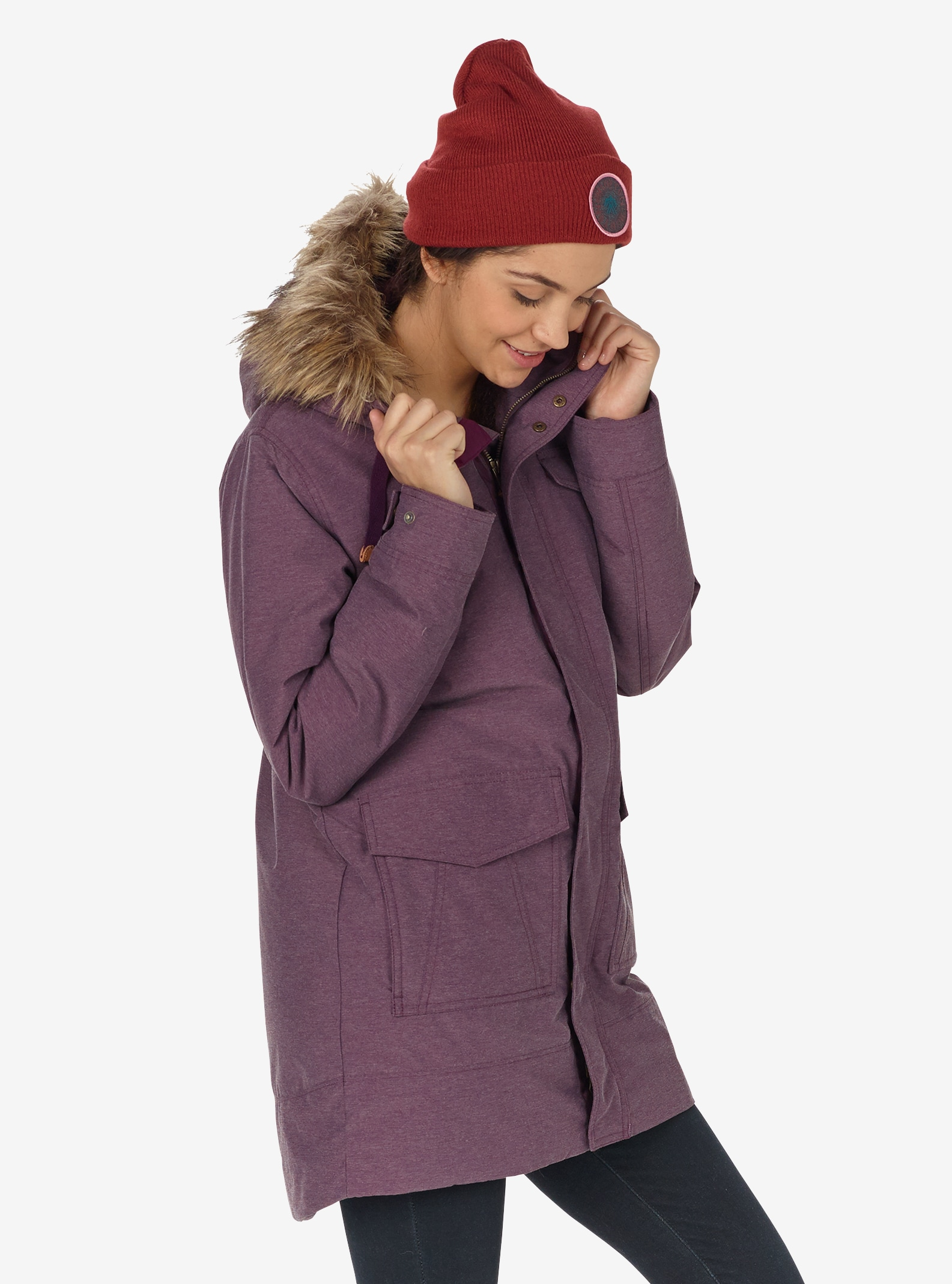 Women's Burton Merriland Jacket shown in Starling Heather