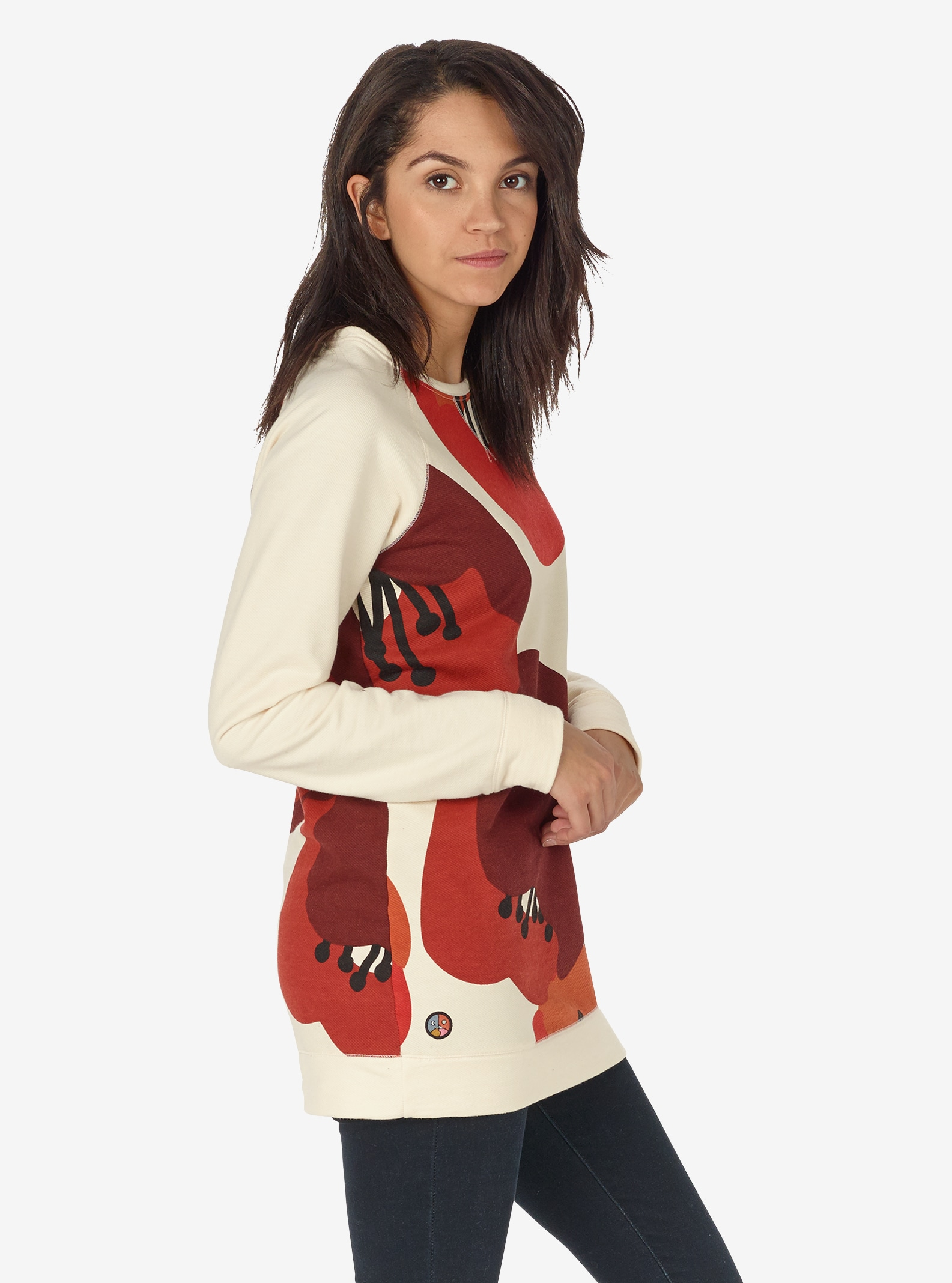 Women's Burton Lima Crew shown in Canvas Poppyfield