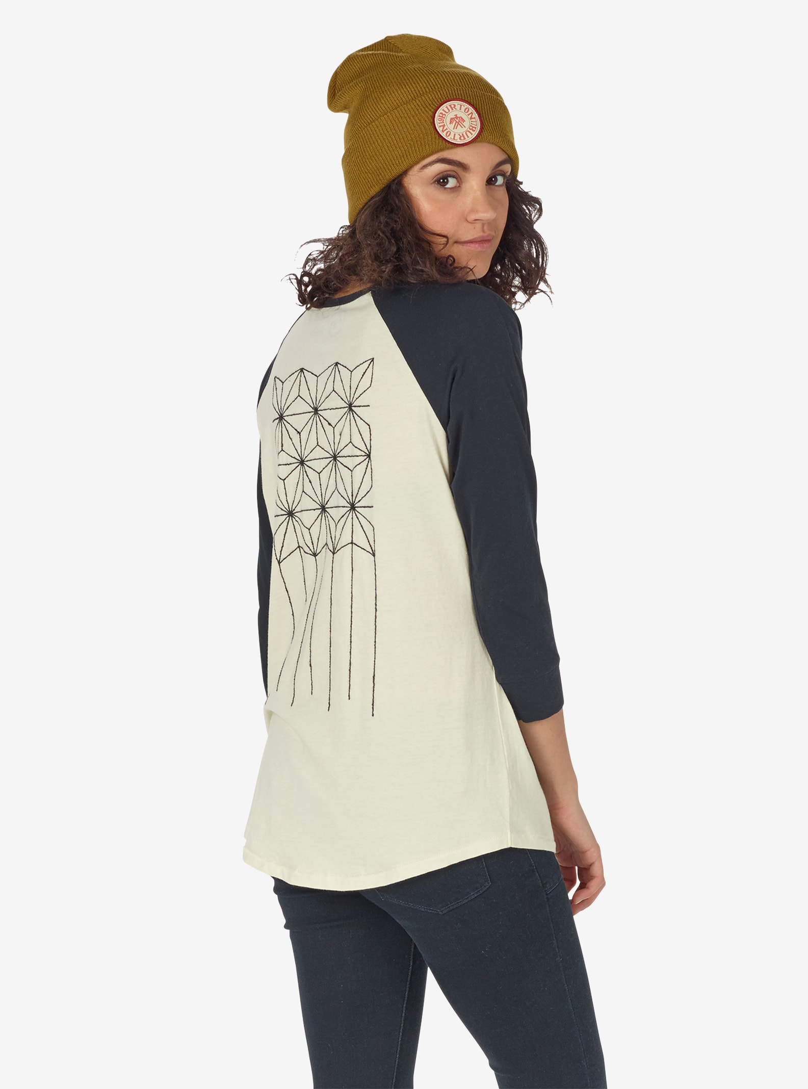 Women's Burton Caratunk Raglan Tee shown in Canvas