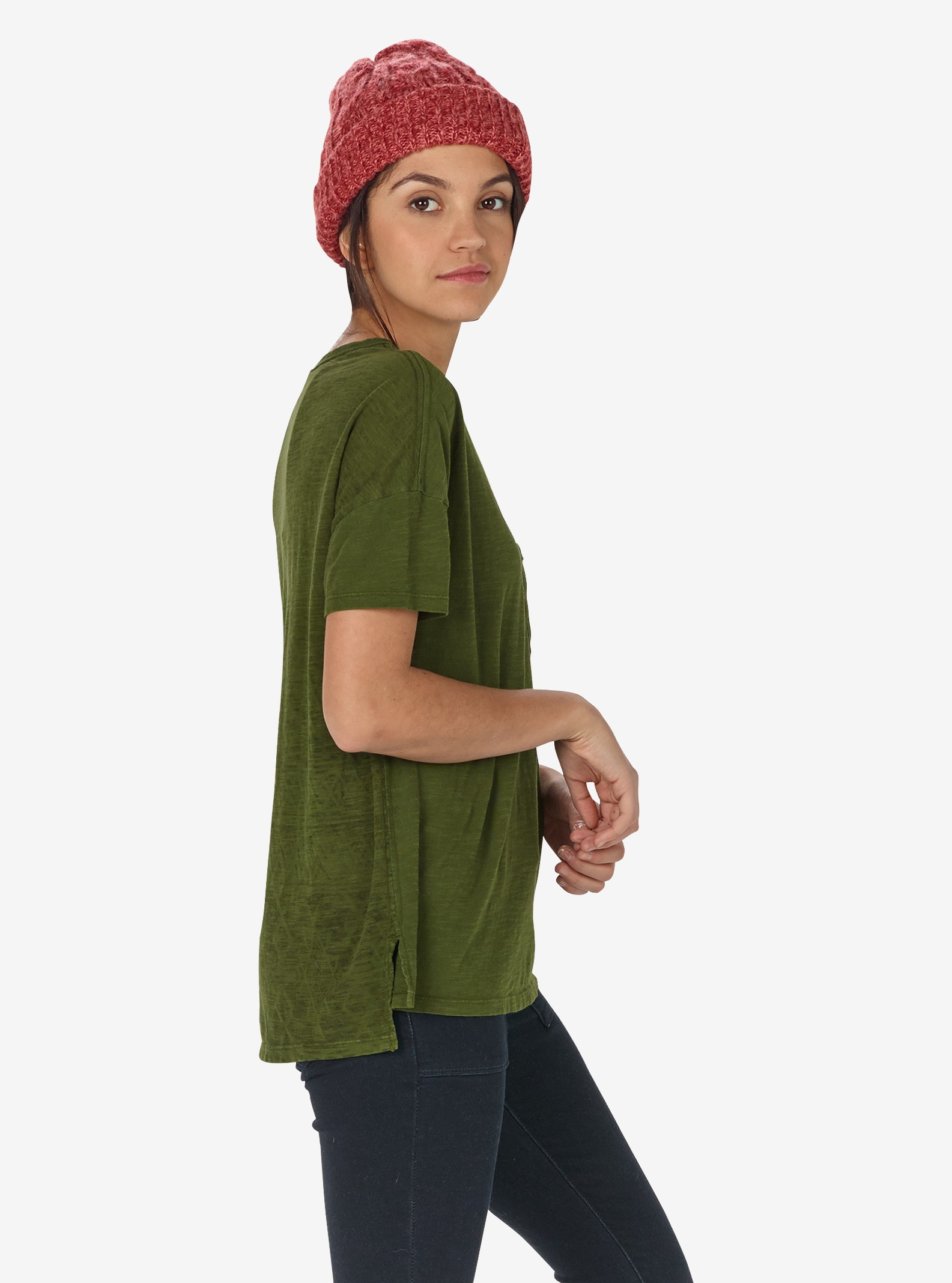 Women's Burton Shale Short Sleeve T Shirt shown in Rifle Green