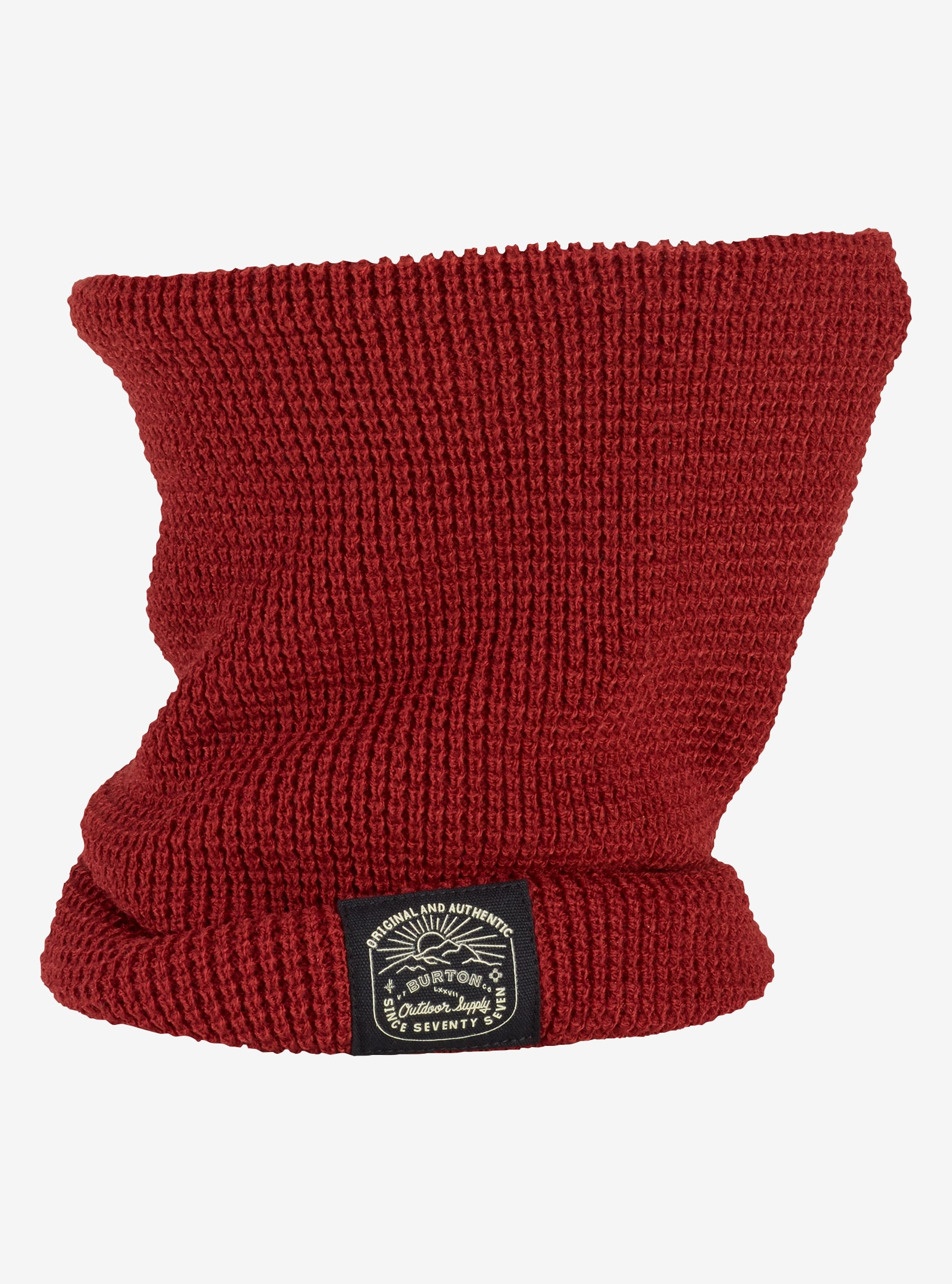 Burton Waffle Neck Warmer shown in Fired Brick