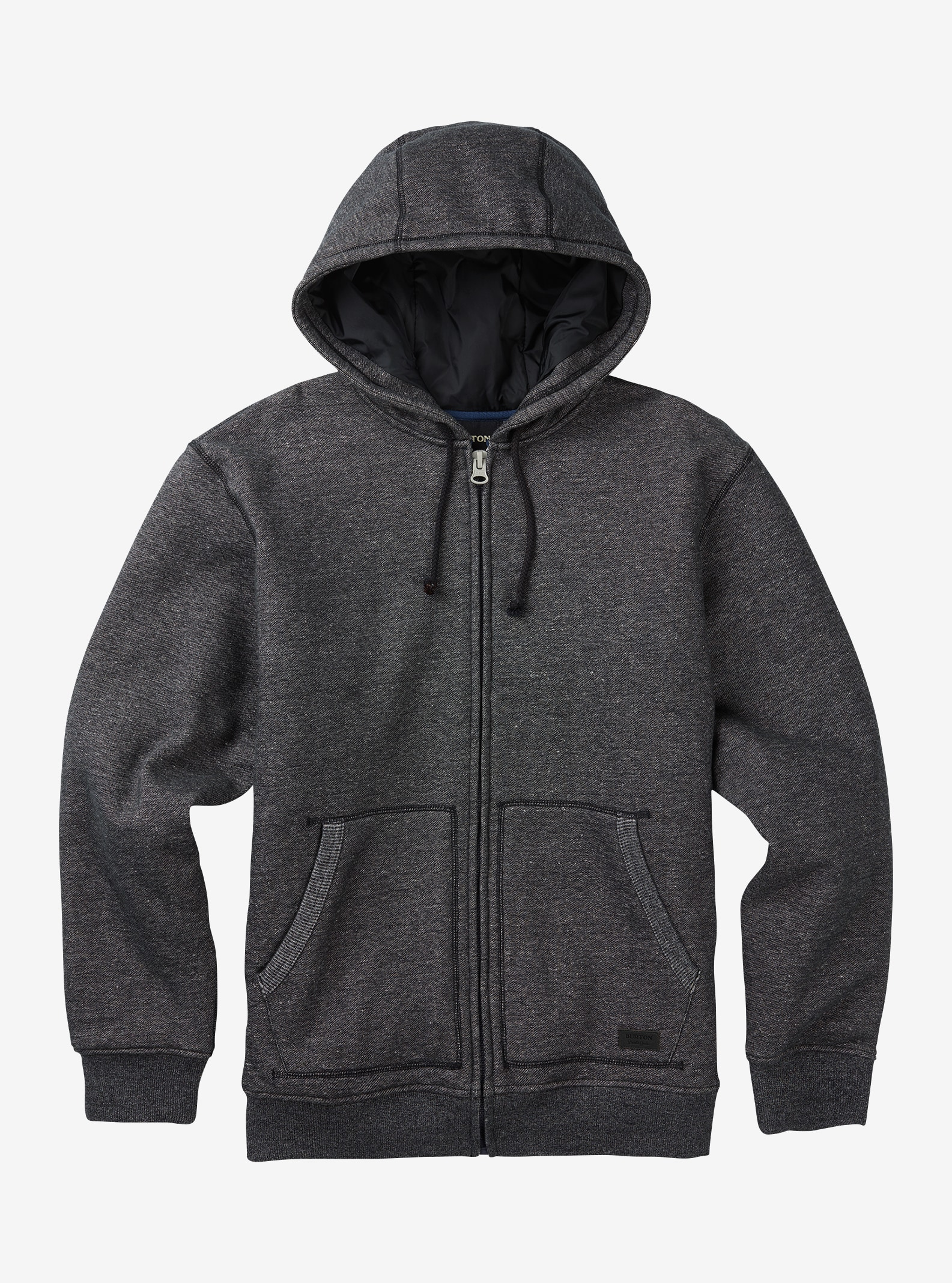 Men's Burton Wakeling Insulated Full-Zip Hoodie shown in True Black Heather