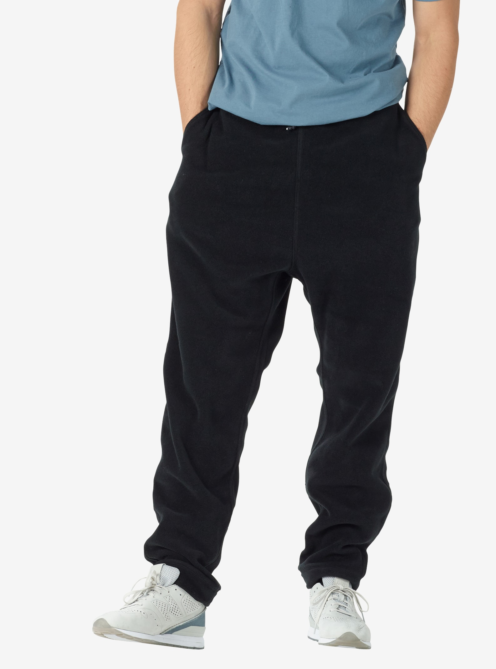 Men's Burton Hearth Fleece Pant shown in True Black