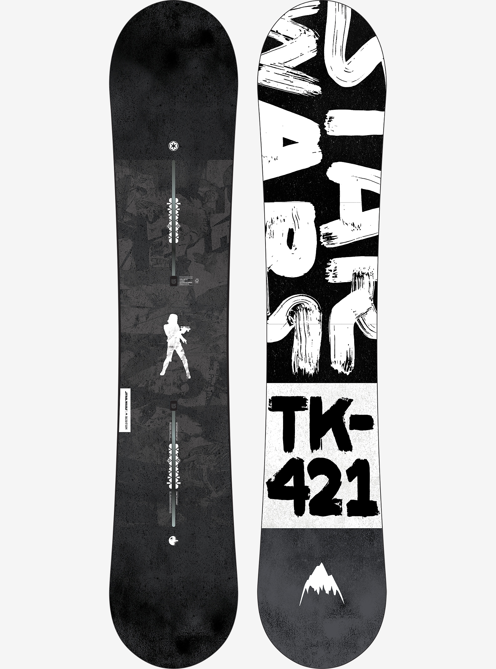 Star Wars Burton Darkside Snowboard shown in 151