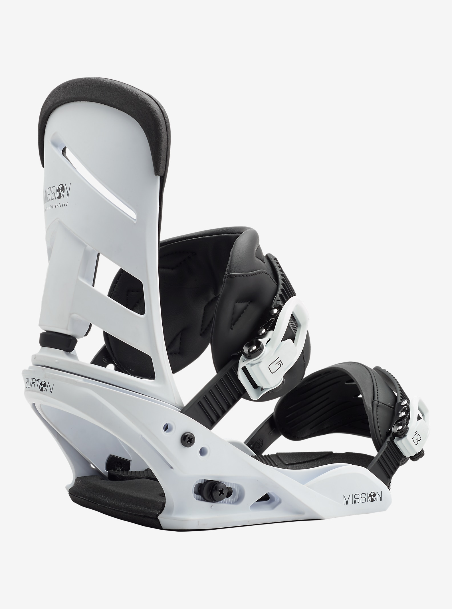 Burton Mission LTD Snowboard Binding shown in White