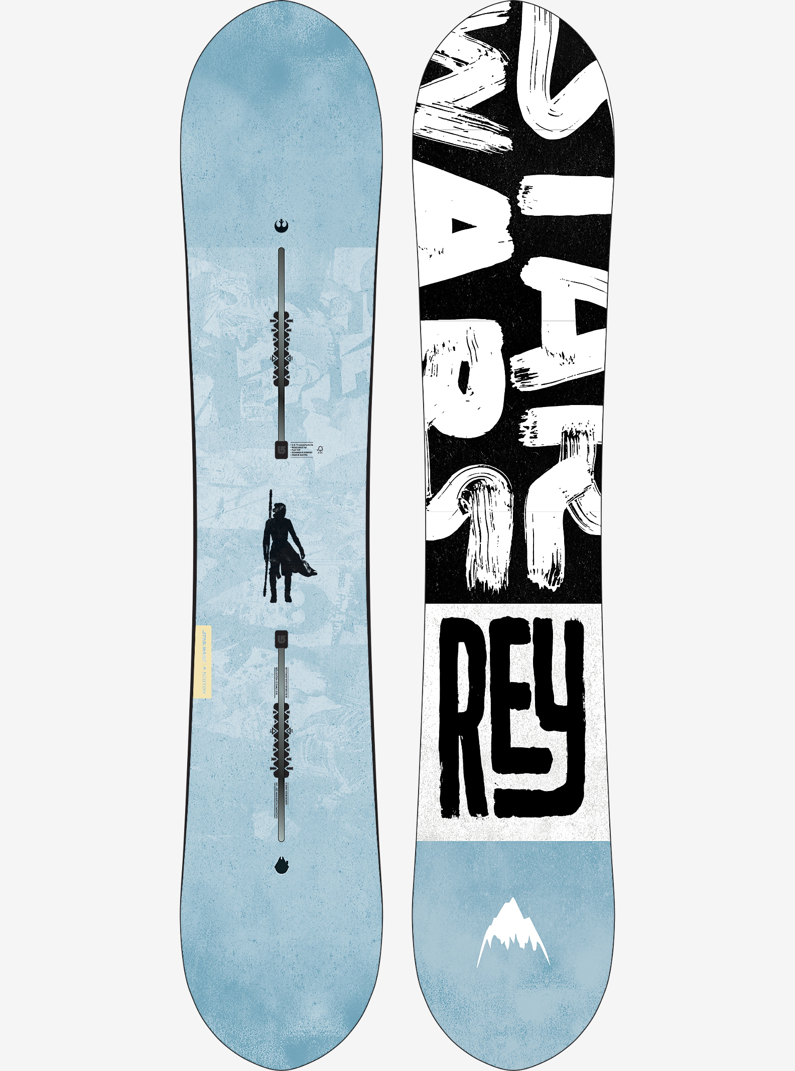 Star Wars Burton Resistance Snowboard shown in 145