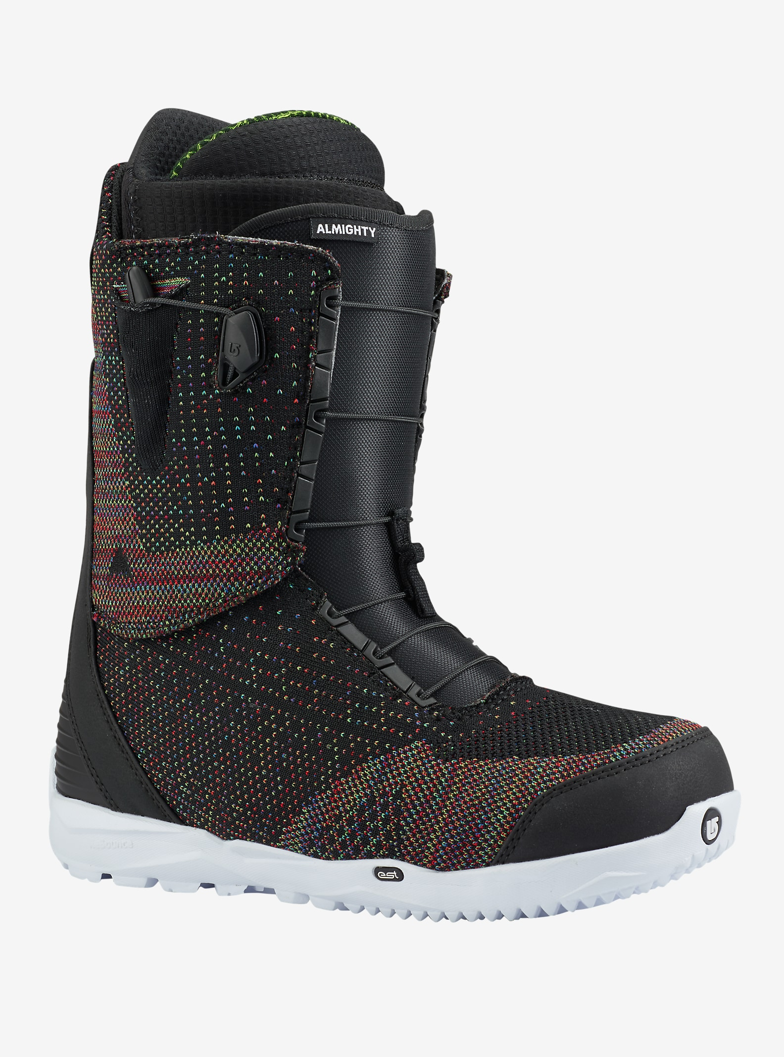 Burton Almighty LTD Snowboard Boot shown in Black / Multi