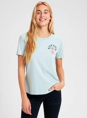 Women's Burton Yeasayer Short Sleeve T-Shirt shown in Ether Blue