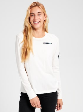 Women's Burton Talent Scout Long Sleeve T Shirt  shown in Stout White