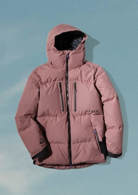 Puffy Jacket shown in Rose Taupe