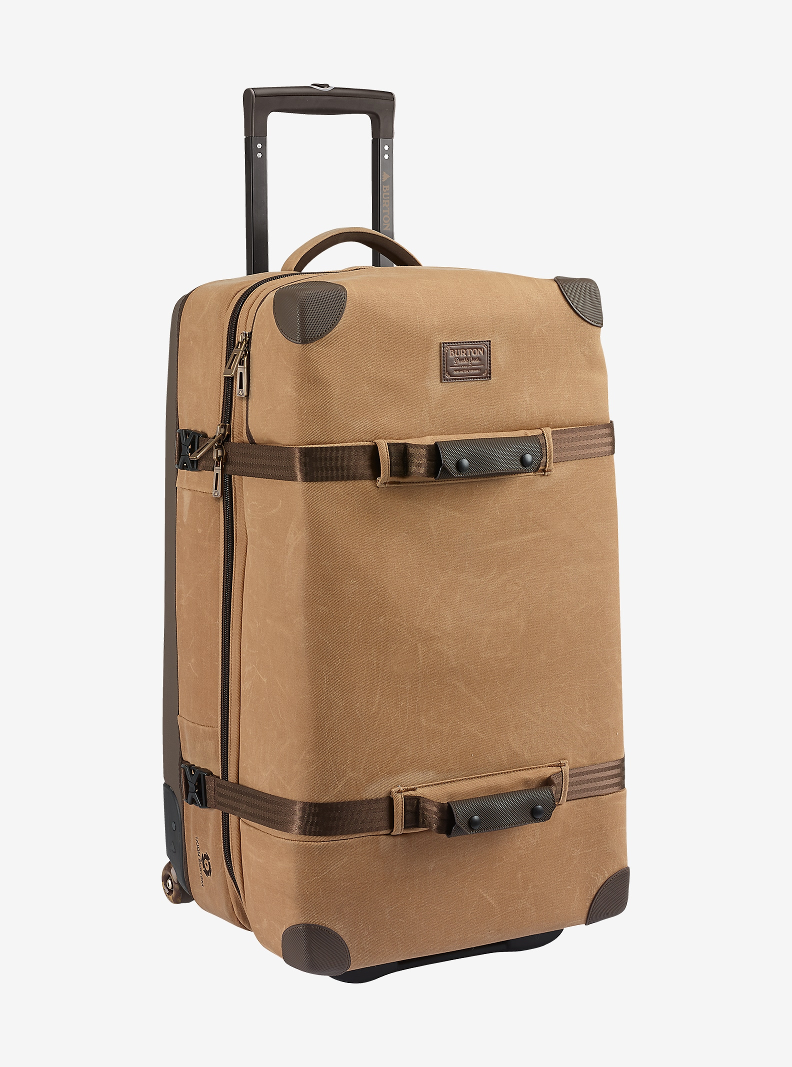 Burton Wheelie Sub Travel Bag shown in Beagle Brown Waxed Canvas