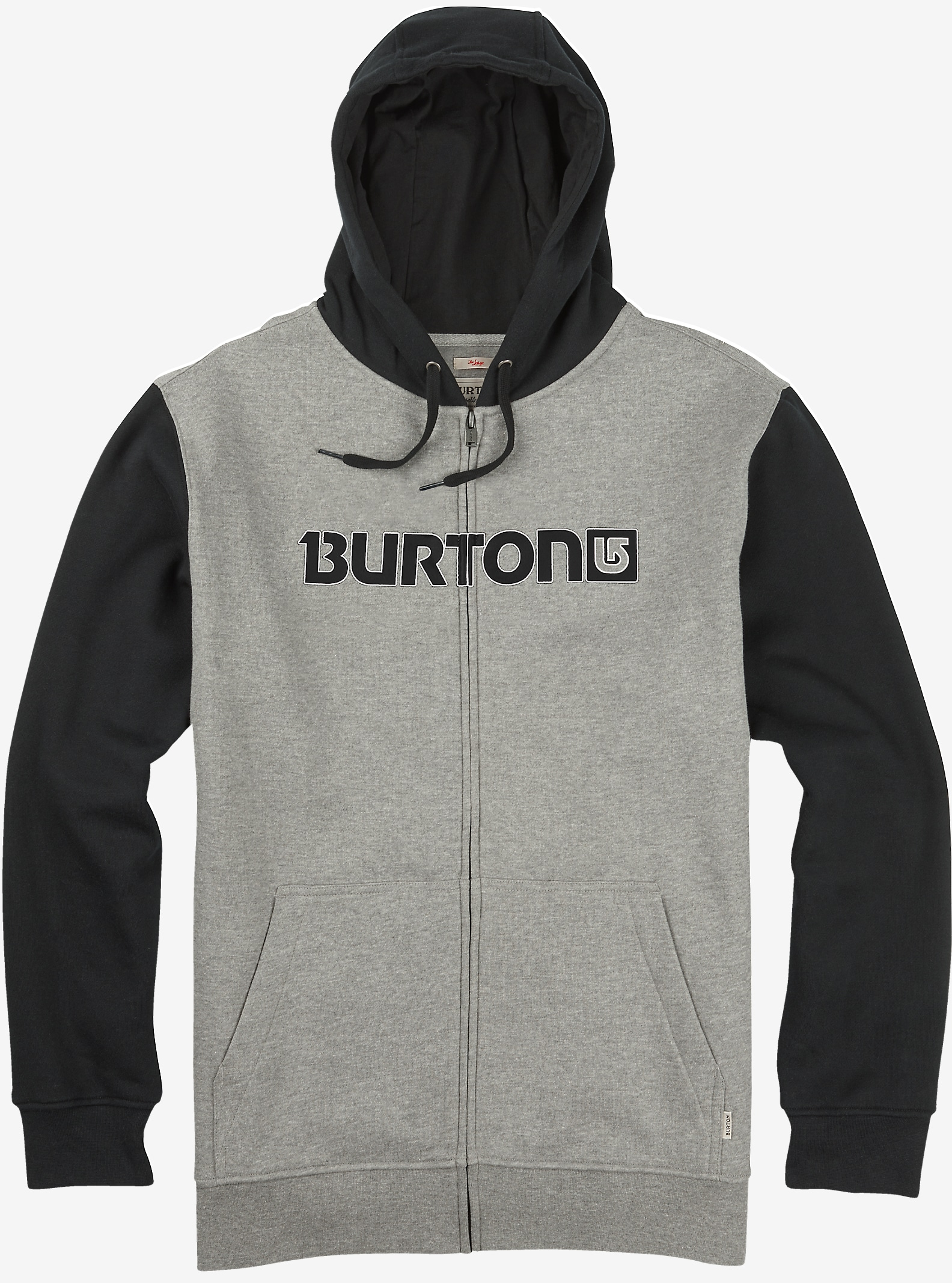 Burton Logo Horizontal Full-Zip Hoodie shown in Gray Heather