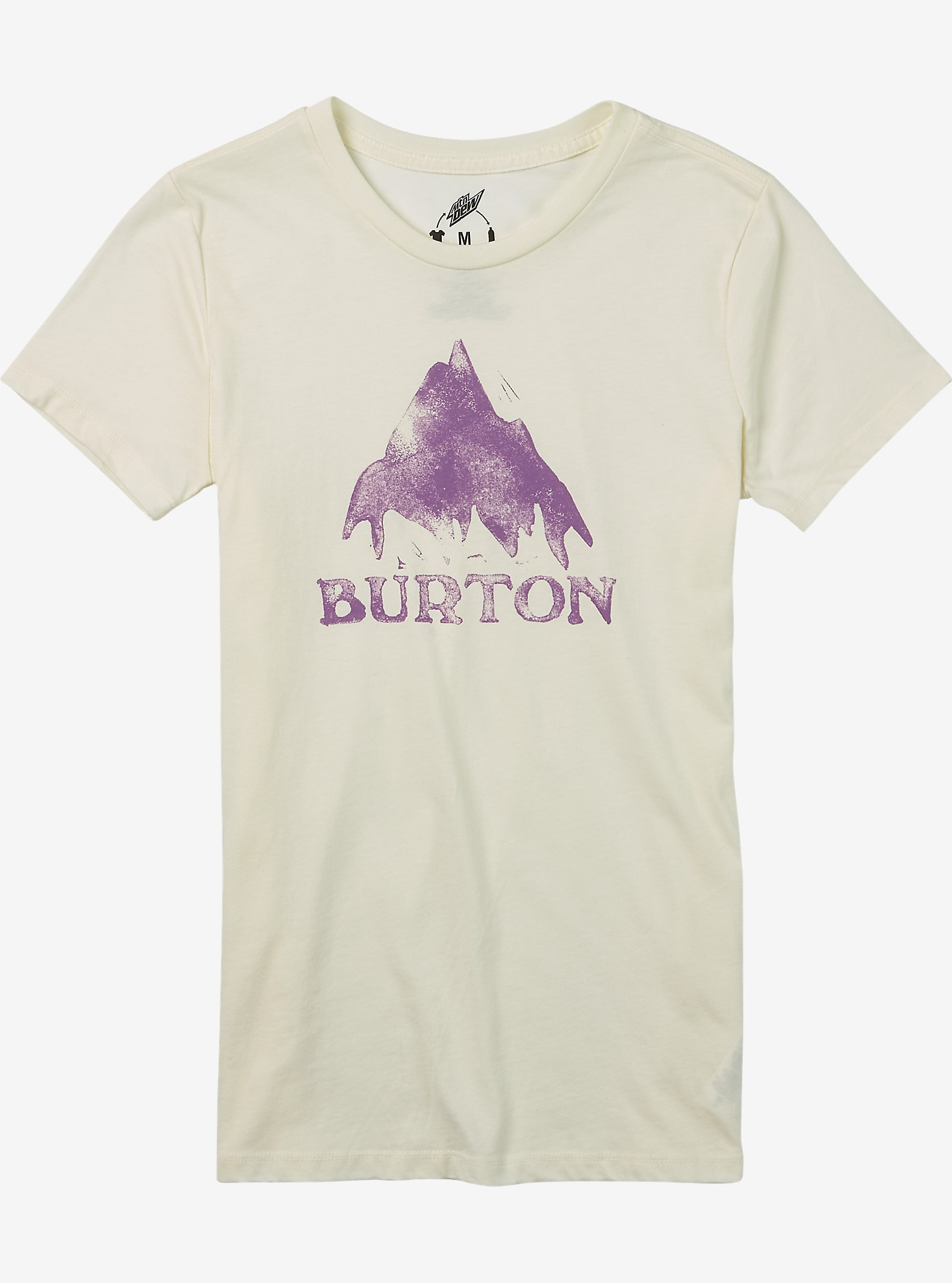 Burton Stamped Mountain Short Sleeve T Shirt shown in Vanilla Heather