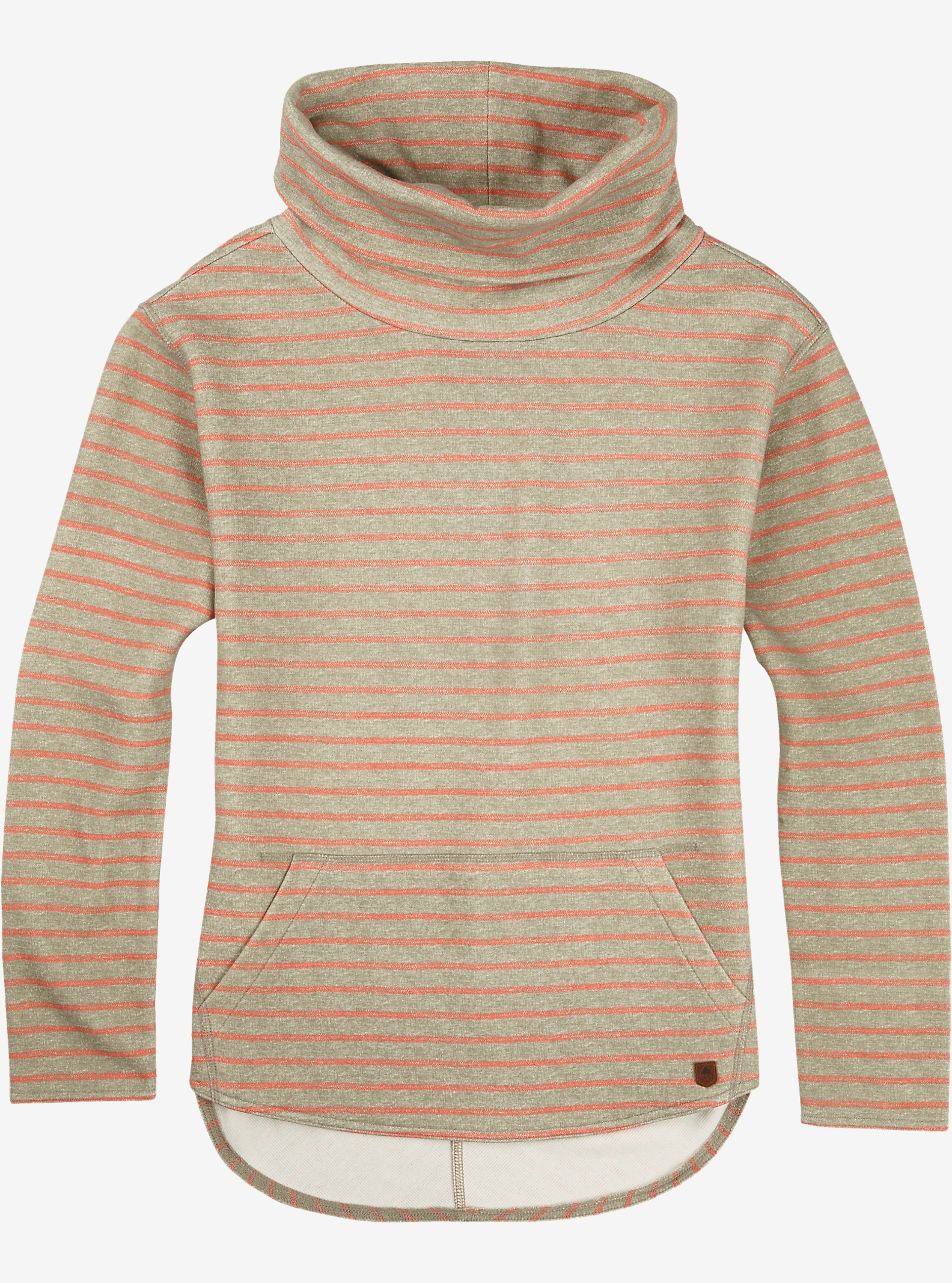 Burton Ellmore Pullover shown in Vetiver Heather Hatch Stripe
