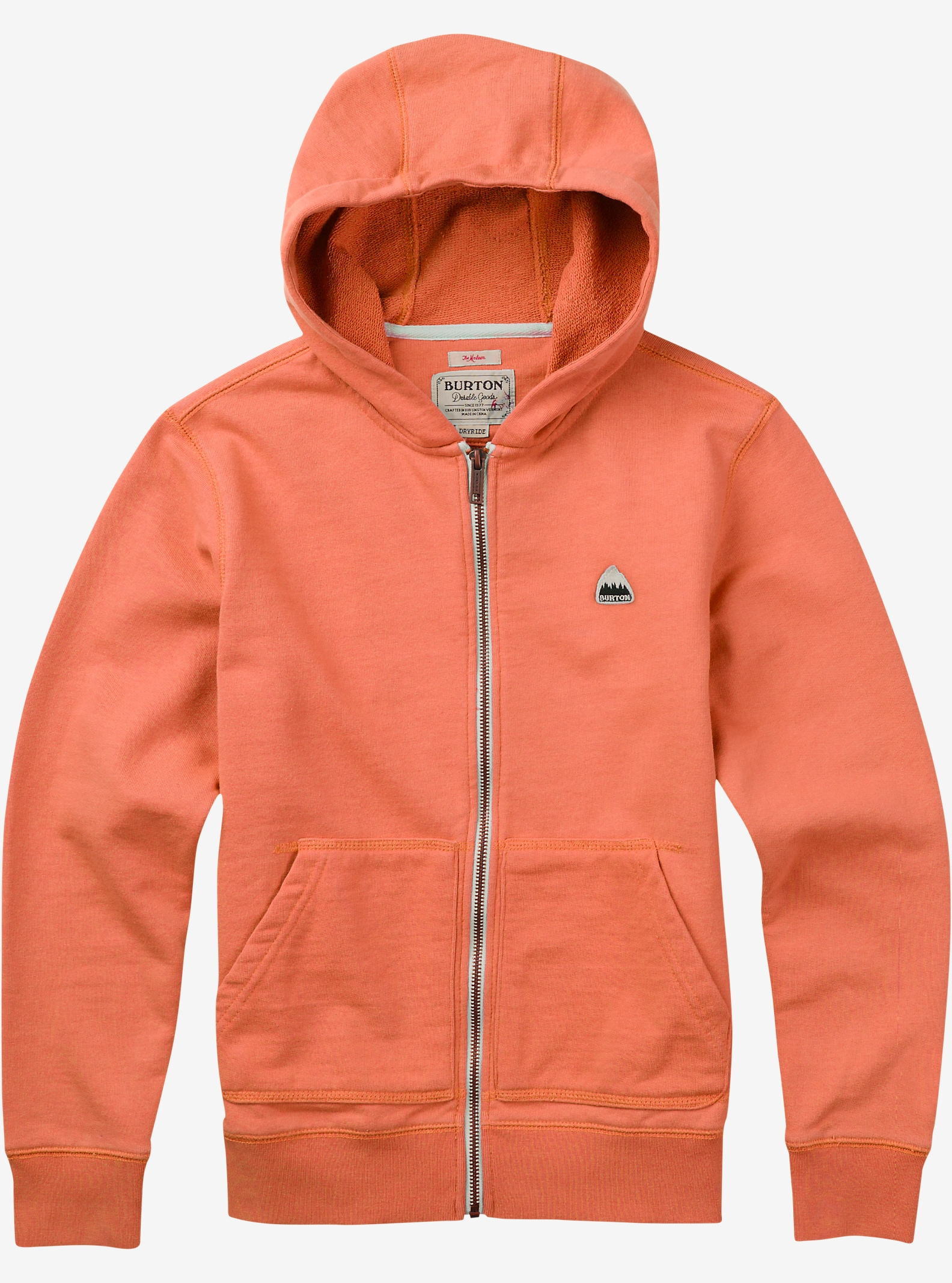 Burton Boys' Roe Full-Zip Hoodie shown in Fresh Salmon