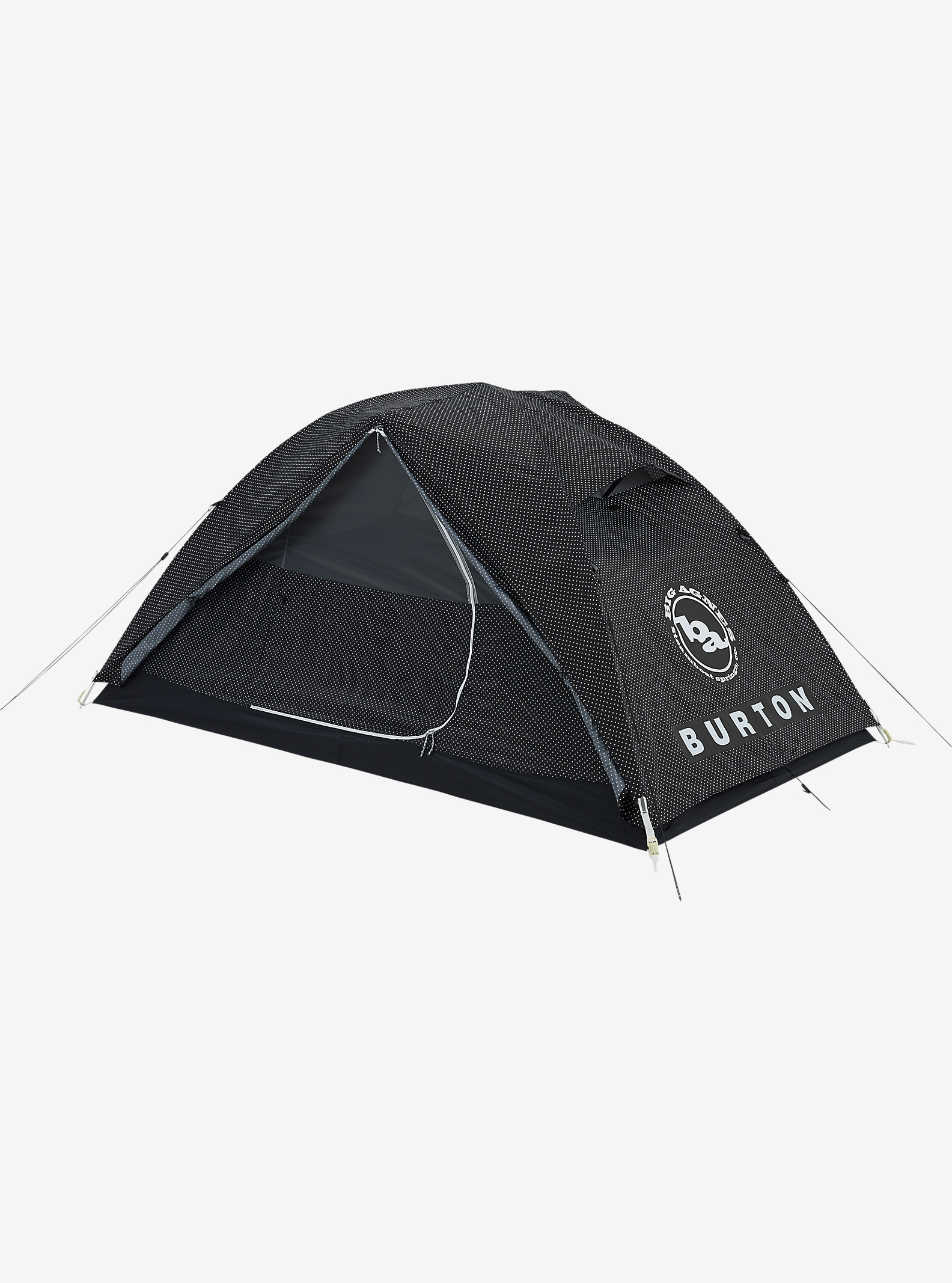 Big Agnes x Burton Nightcap Tent shown in Black Polka Dot