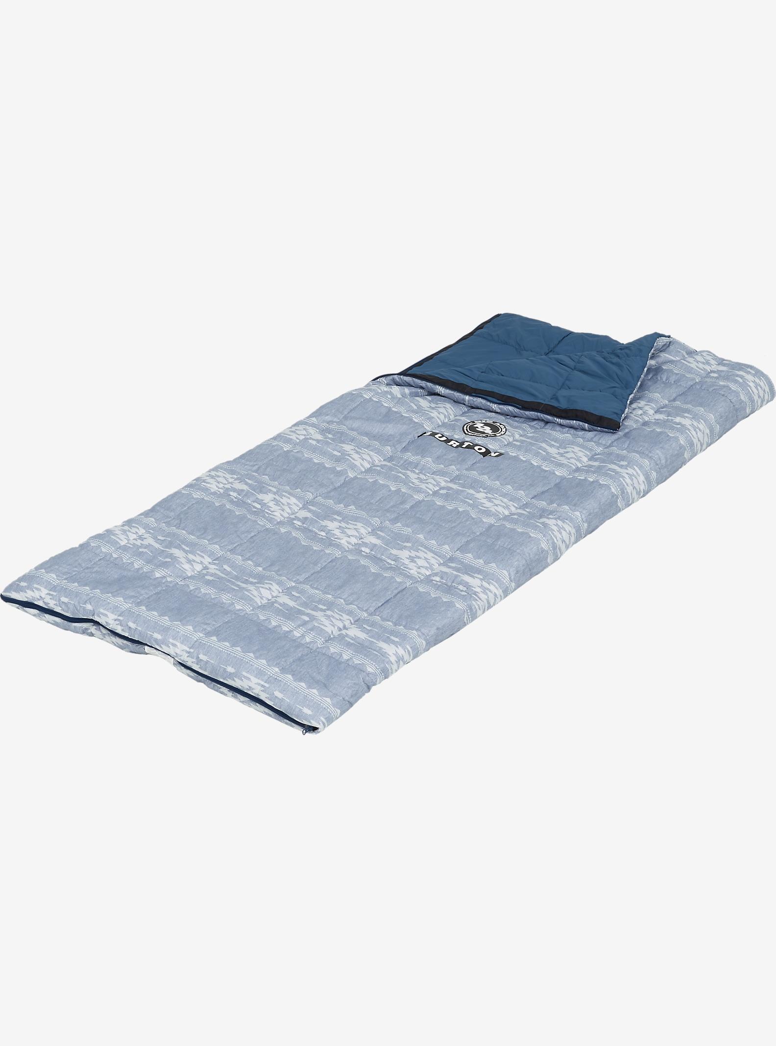 The Big Agnes x Burton Dirt Bag shown in Famish Stripe