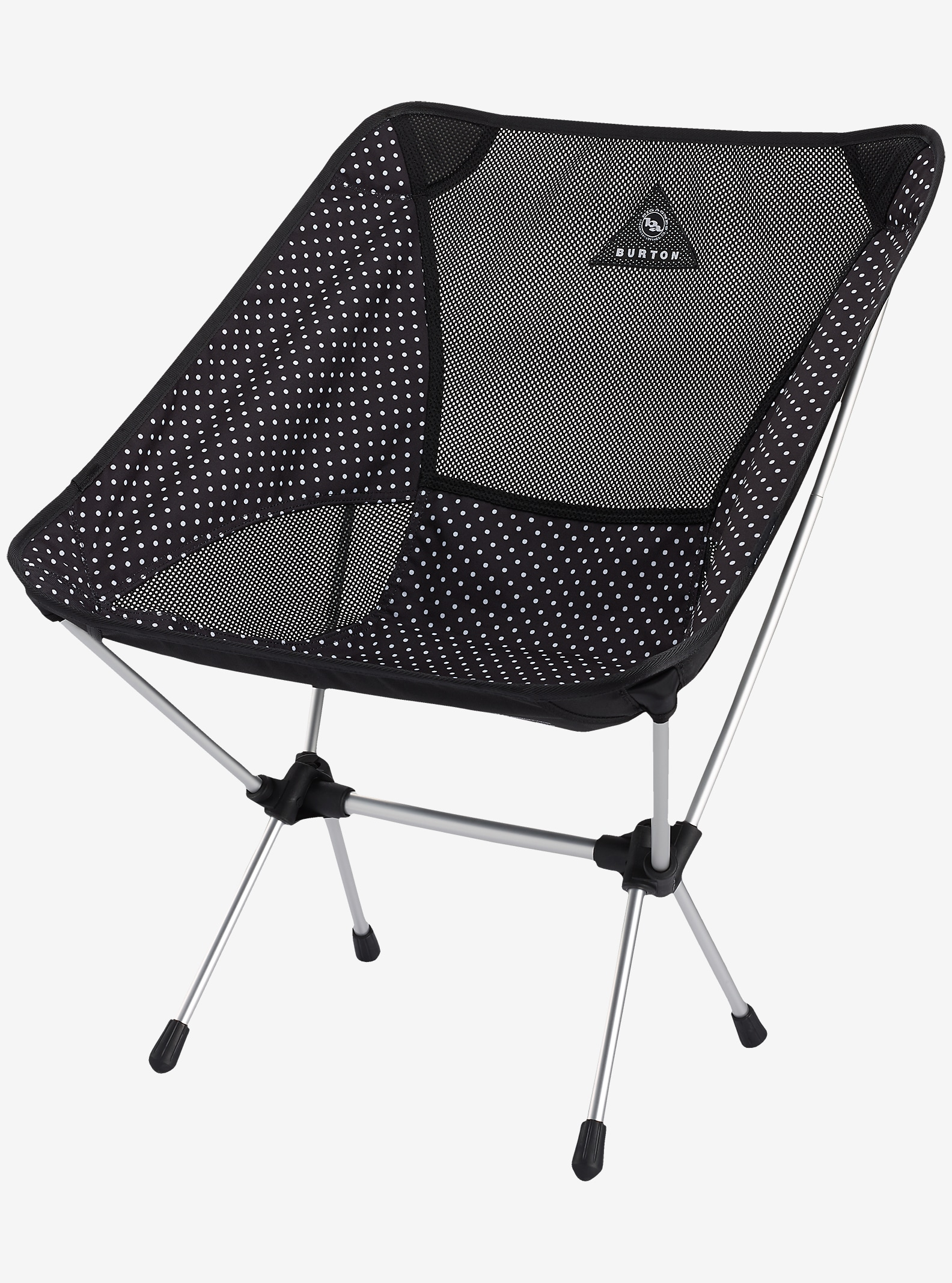 Big Agnes x Helinox x Burton Camp Chair shown in Black Polka Dot