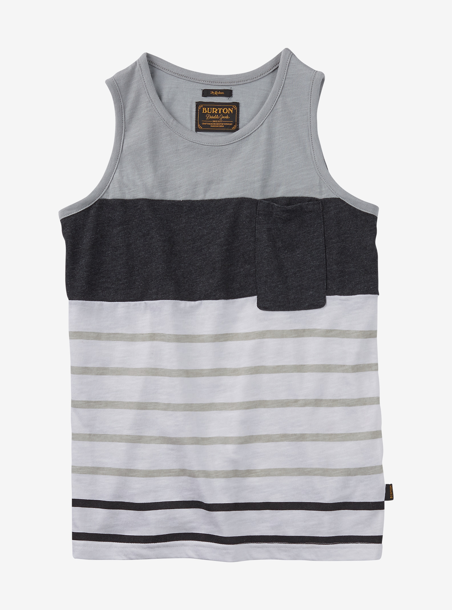 Burton Boys' Brandbury Tank shown in High Rise Lplnd Stripe