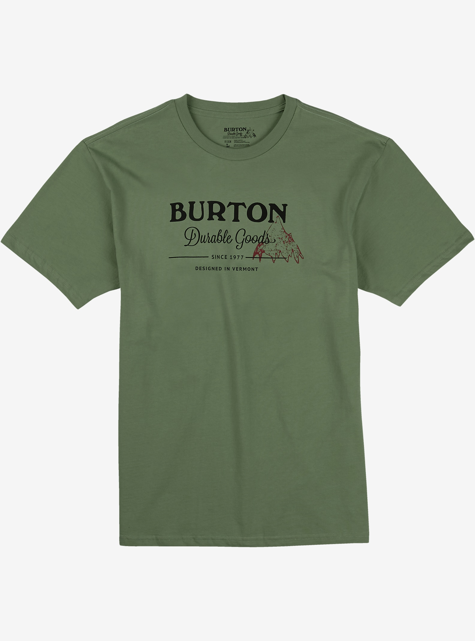 Burton Durable Goods Short Sleeve T Shirt shown in Military Green