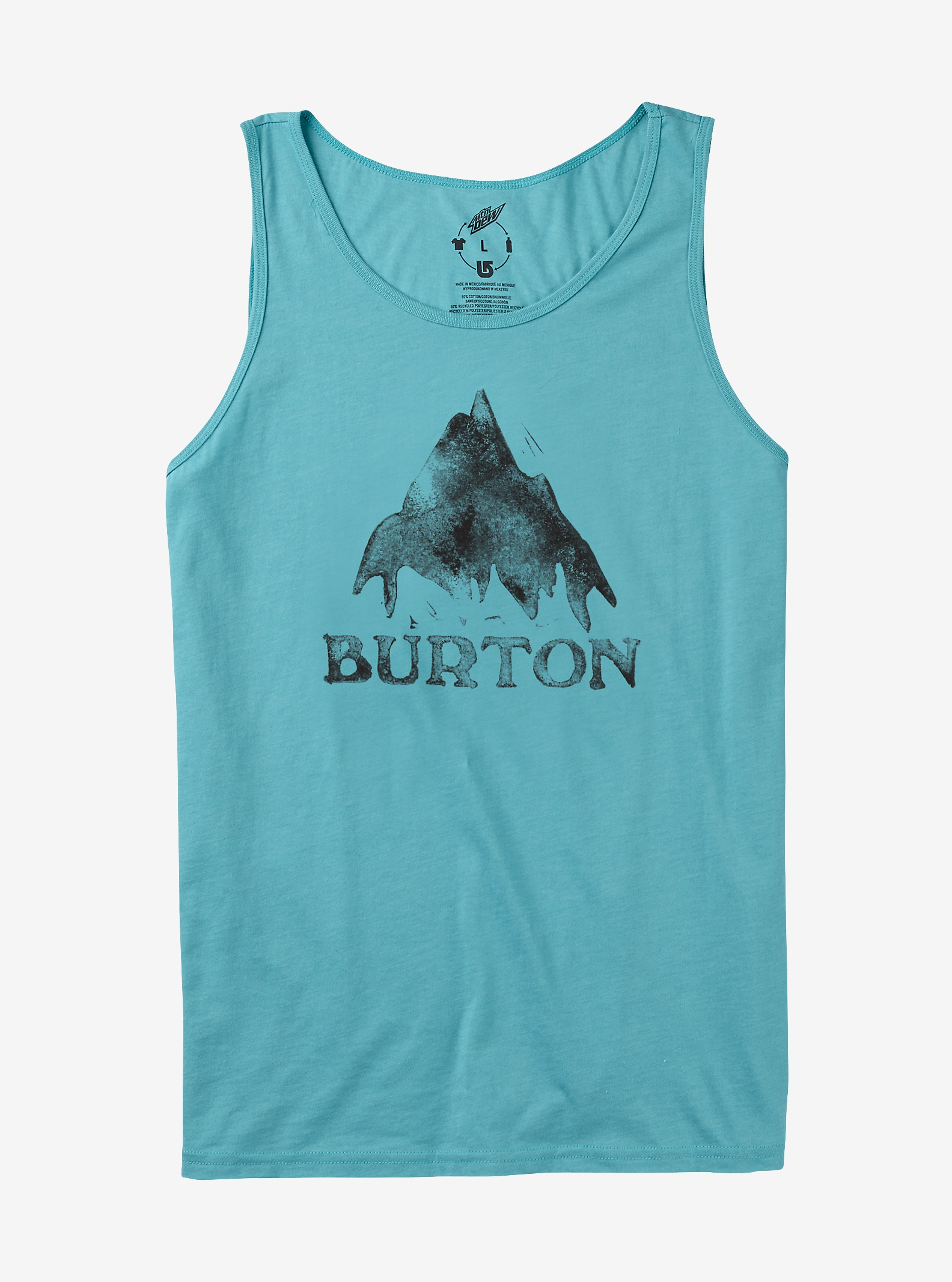 Burton Stamped Mountain Recycled Tank shown in Dusty Blue Heather