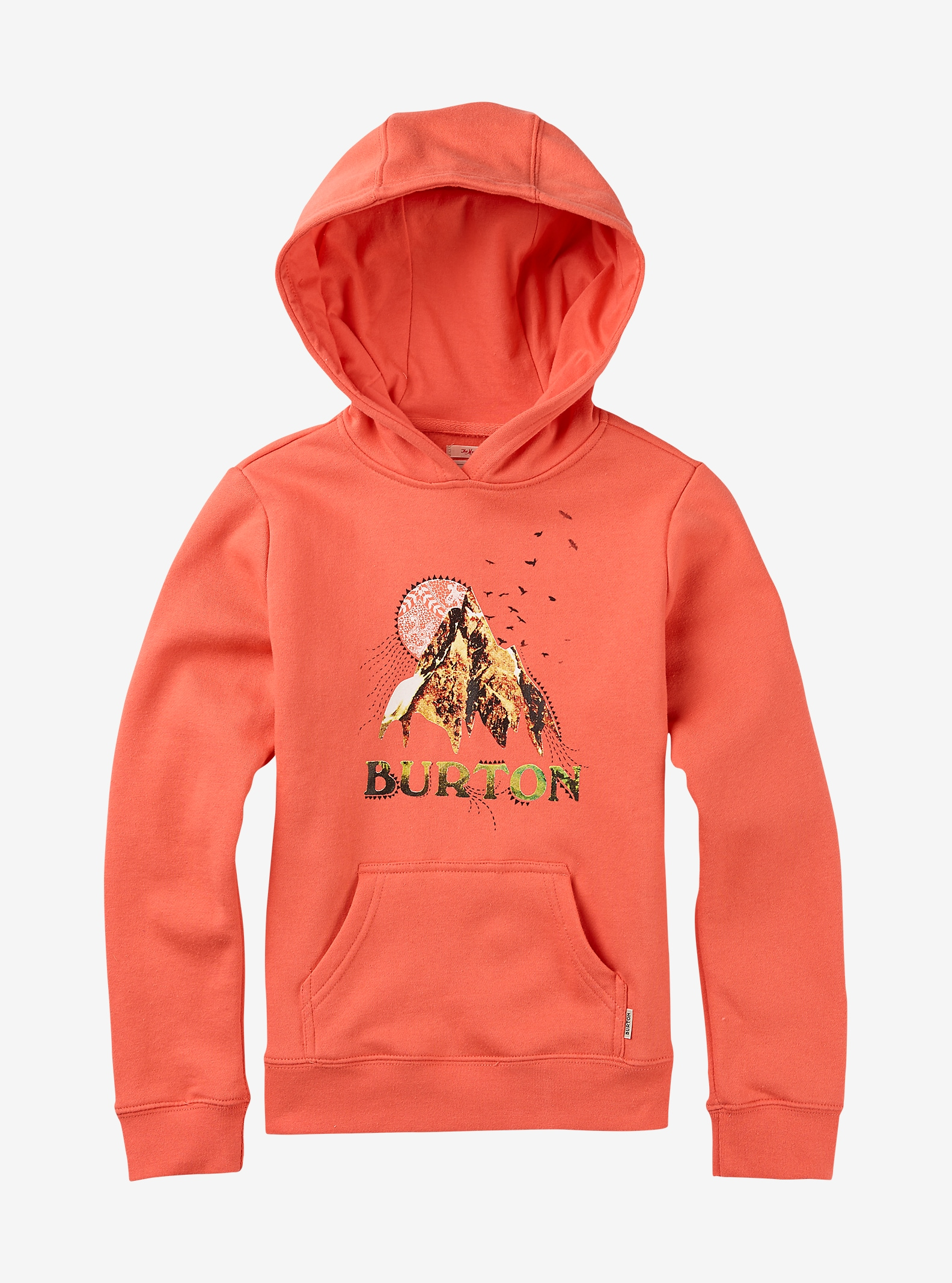 Burton Girls' Sage Pullover Hoodie shown in Fresh Salmon