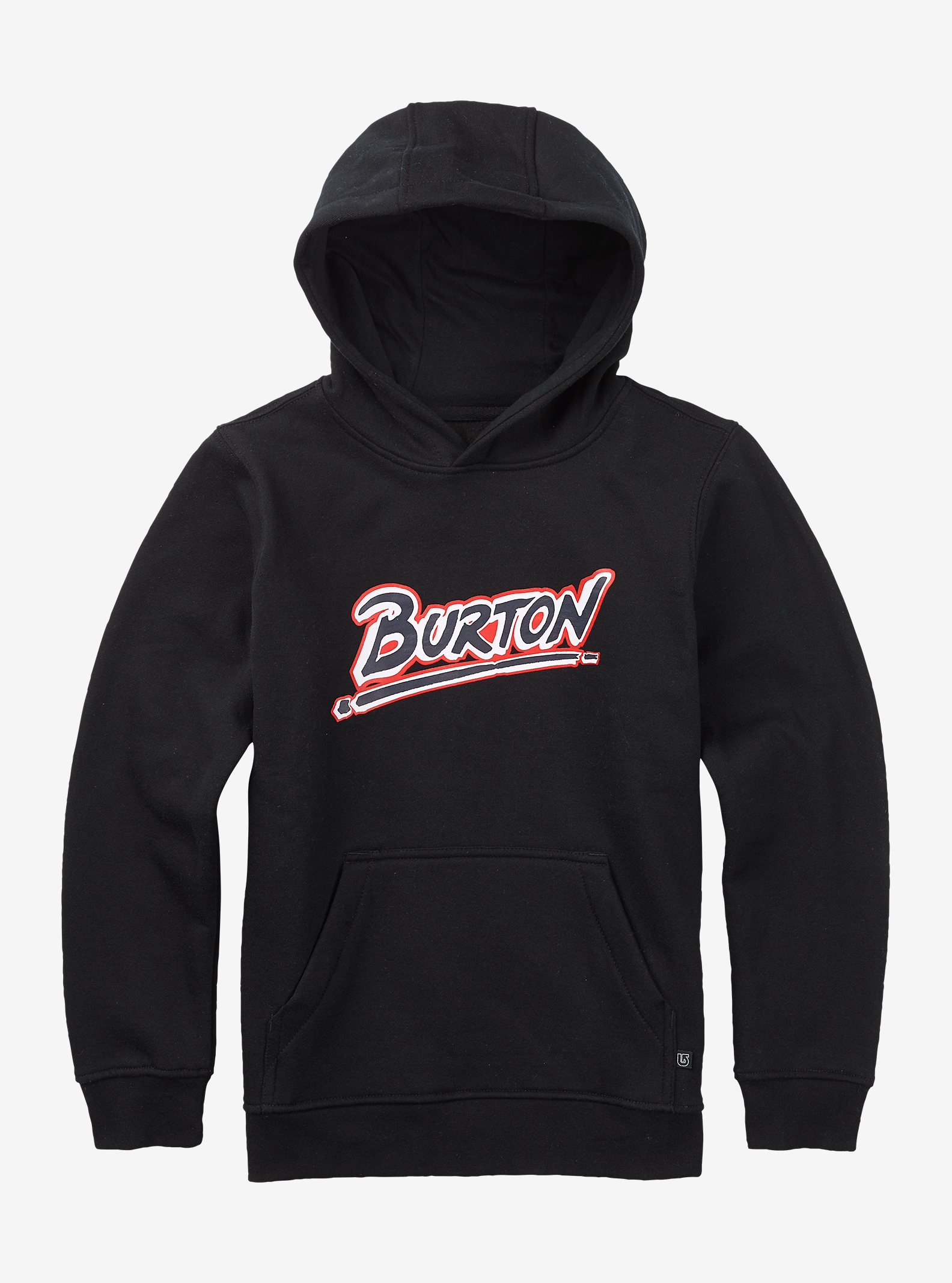Burton Boys' Big Up Pullover Hoodie shown in True Black
