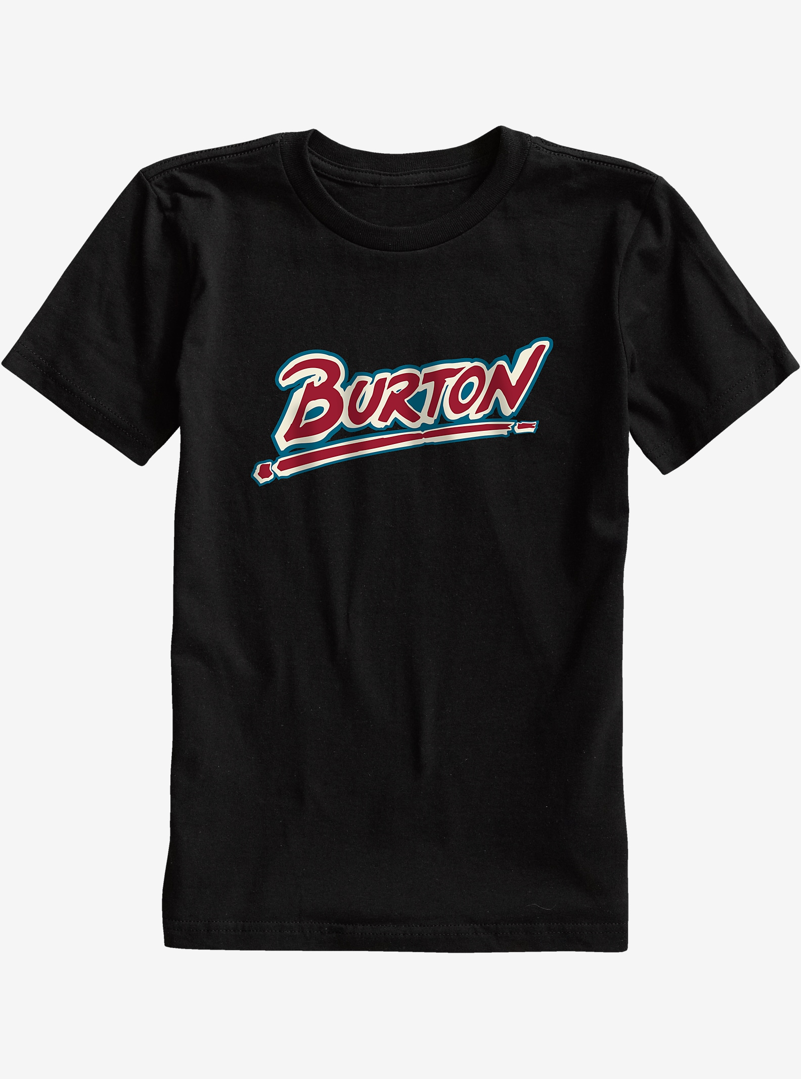 Burton Boys' Big Up Short Sleeve T Shirt shown in True Black