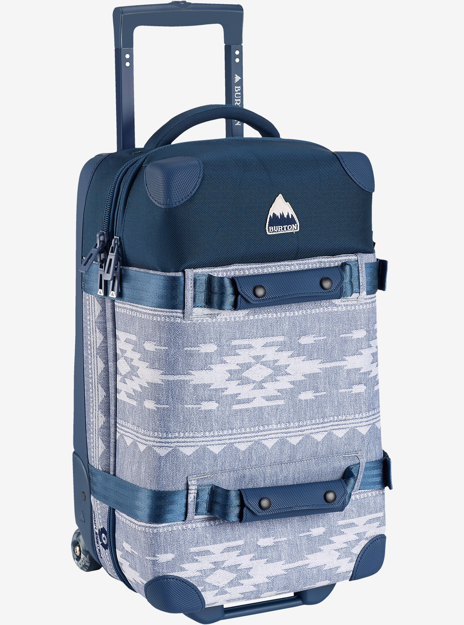 Burton Wheelie Flight Deck Travel Bag shown in Famish Stripe [bluesign® Approved Fabric]