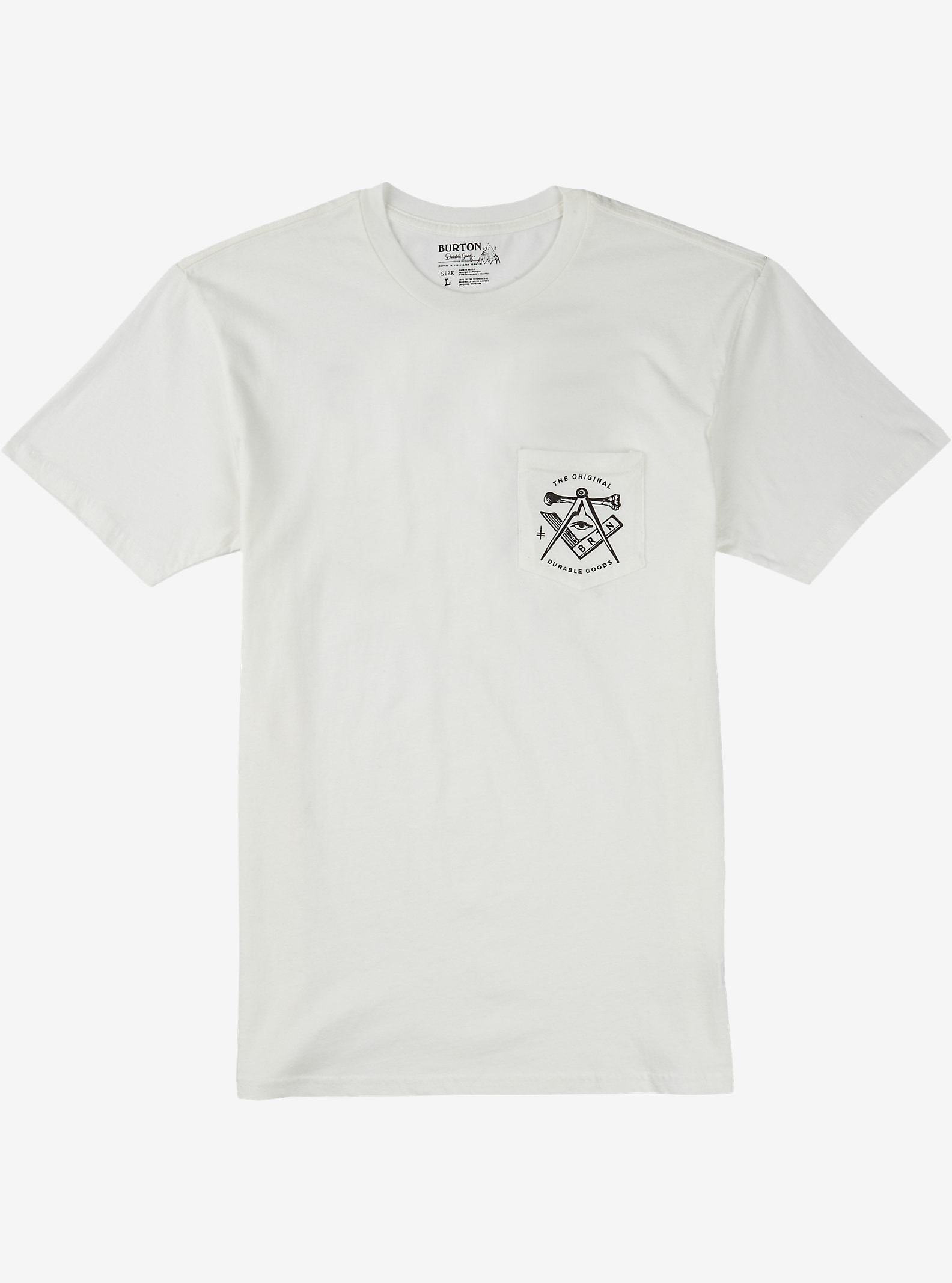 Burton OG Slim Fit Short Sleeve T Shirt shown in Stout White