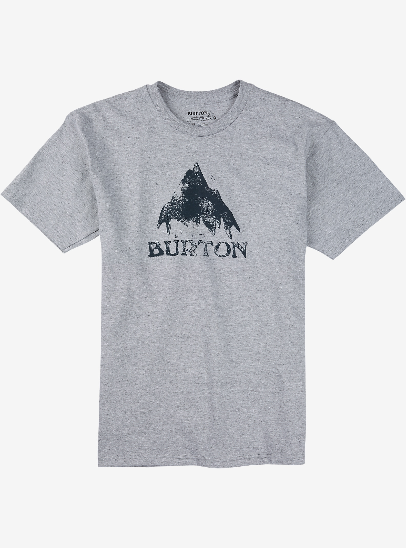 Burton Stamped Mountain Short Sleeve T Shirt shown in Gray Heather