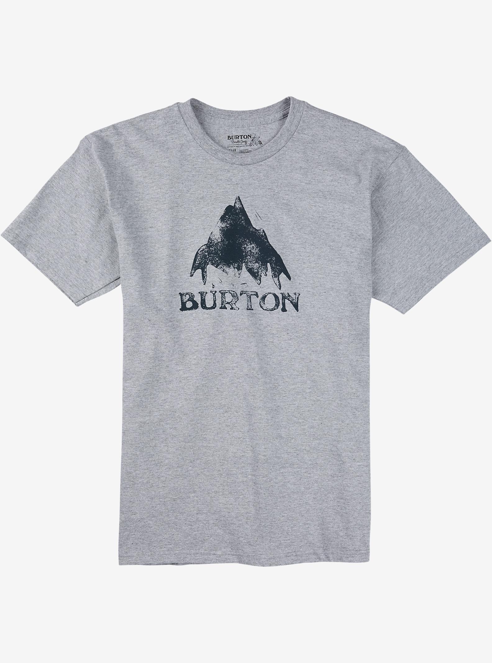 Burton Stamped Mountain Short Sleeve T Shirt shown in Gray Heather