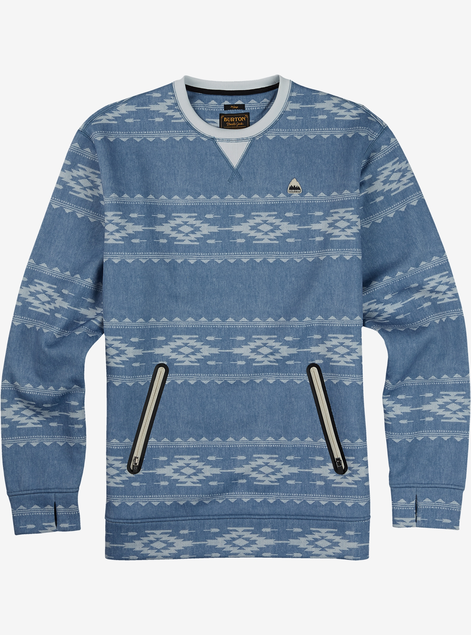 Burton Bonded Crew shown in Famish Stripe