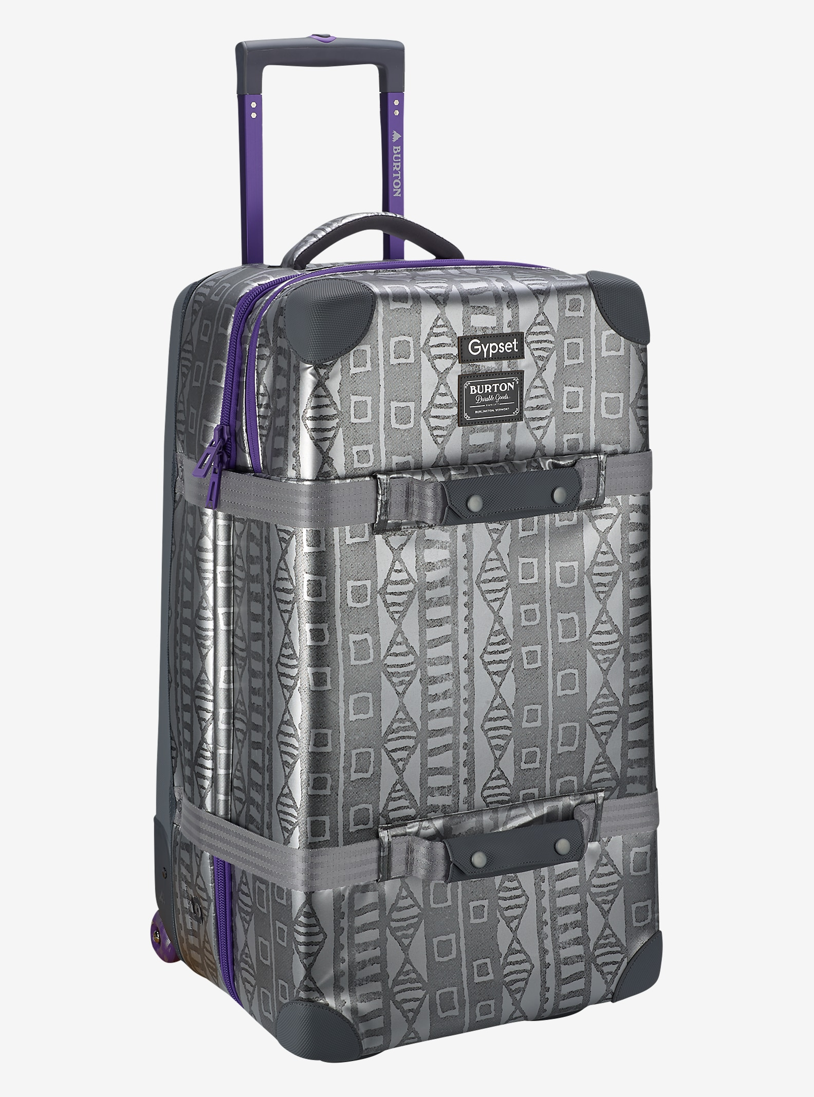 Burton x Gypset Wheelie Double Deck Travel Bag shown in Galactic Mudcloth