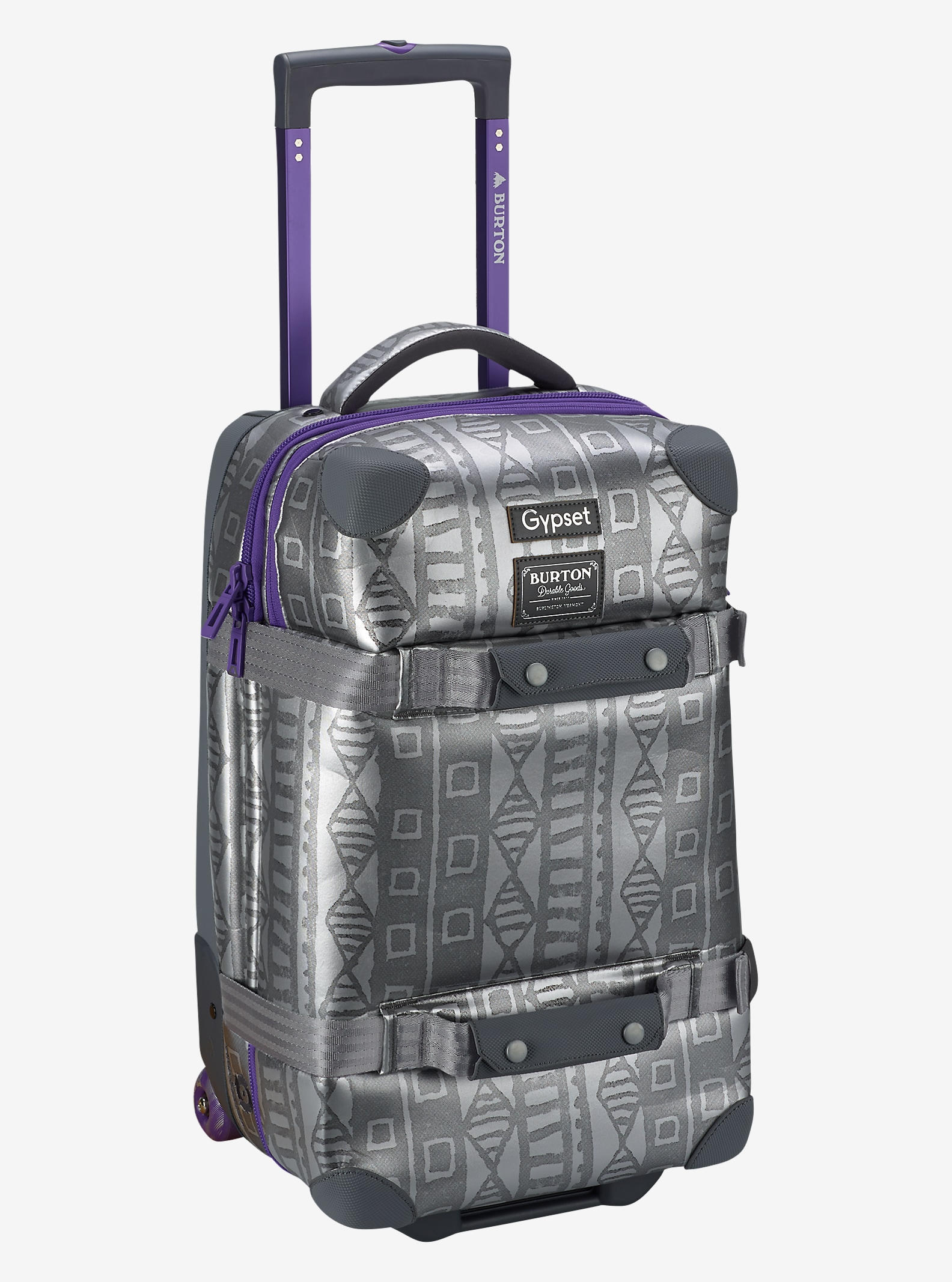 Burton x Gypset Wheelie Flight Deck Travel Bag shown in Galactic Mudcloth