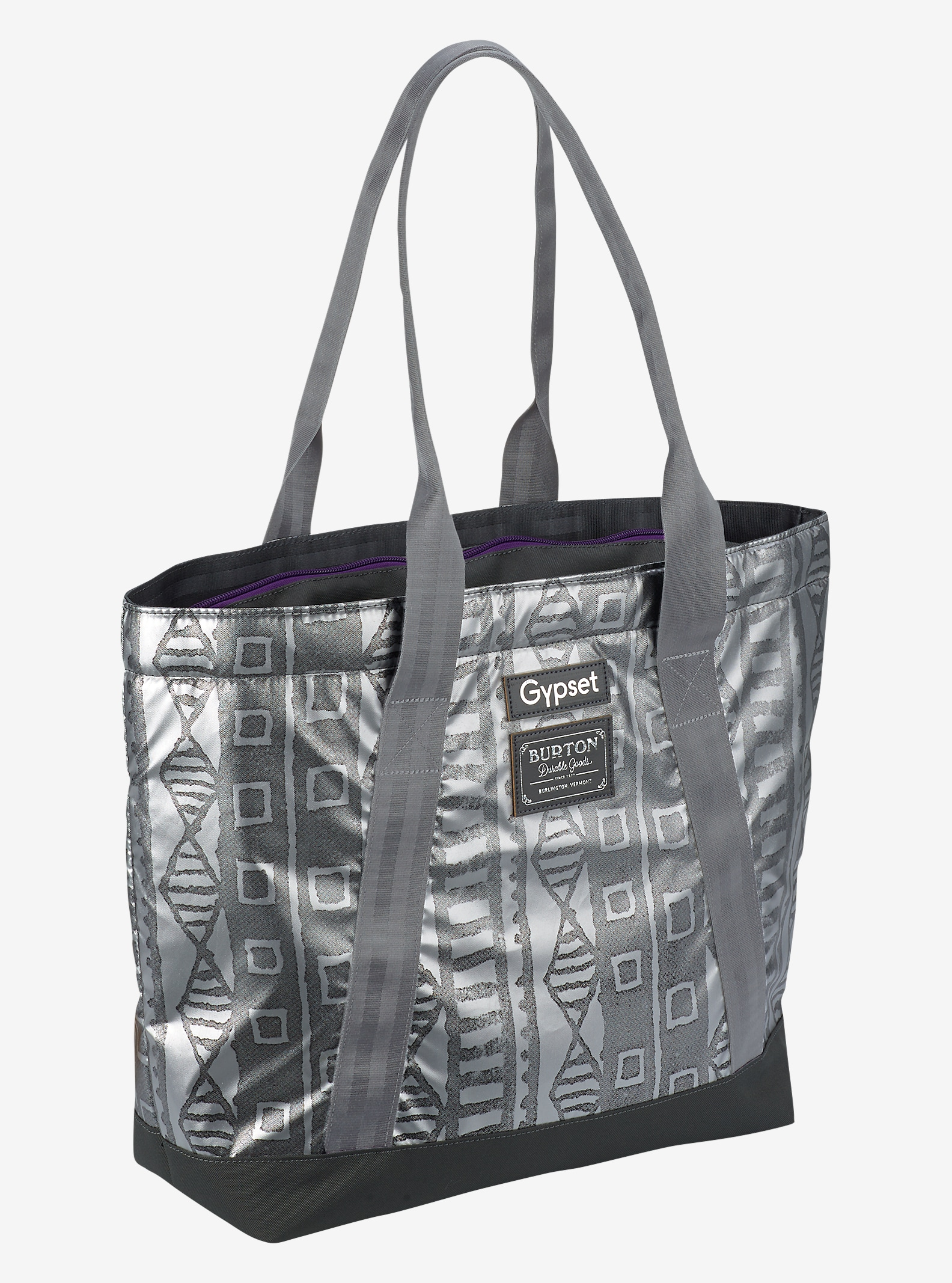 Burton x Gypset Sofie Tote shown in Galactic Mudcloth