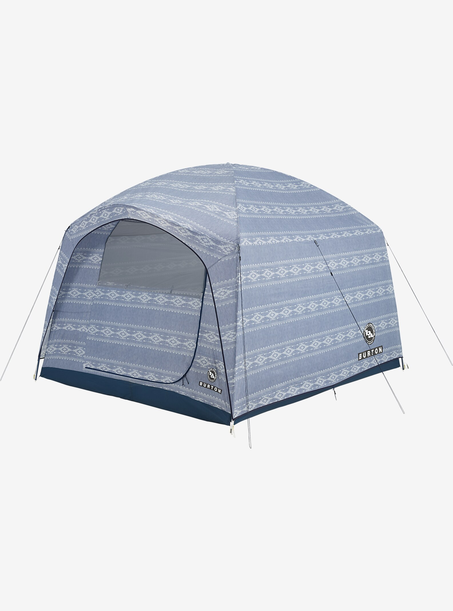 Big Agnes x Burton Stone Hut Tent shown in Famish Stripe