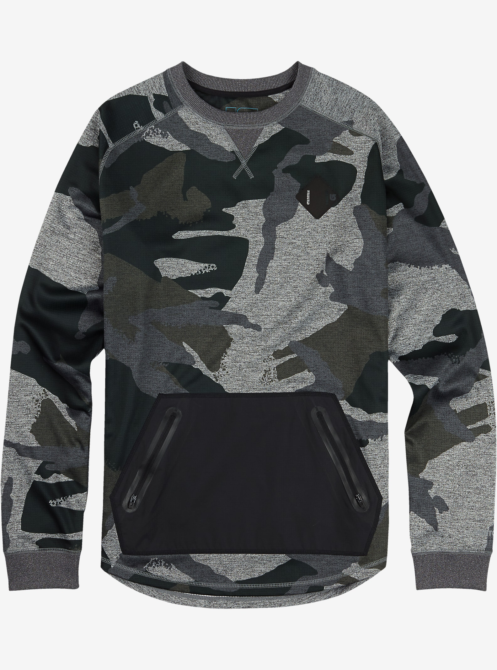 Burton Caption Crew shown in Beetle Derby Camo Heather [bluesign® Approved Fabric]