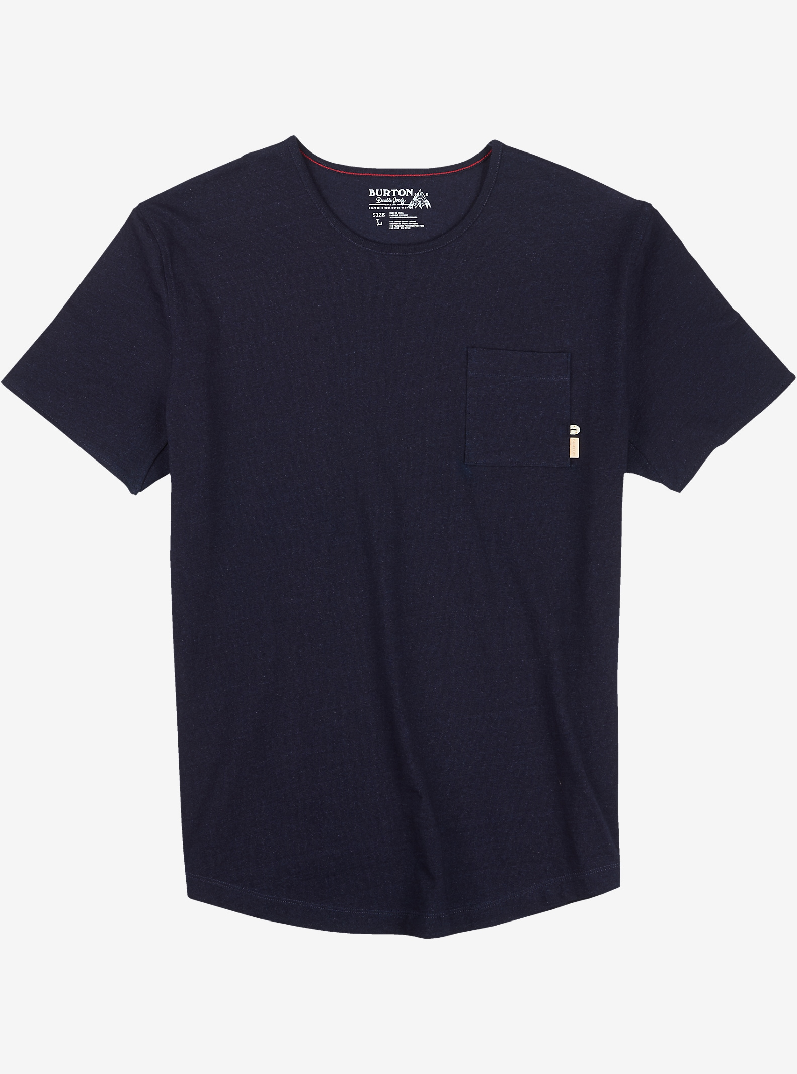 Burton Reed Short Sleeve Pocket T Shirt shown in Indigo