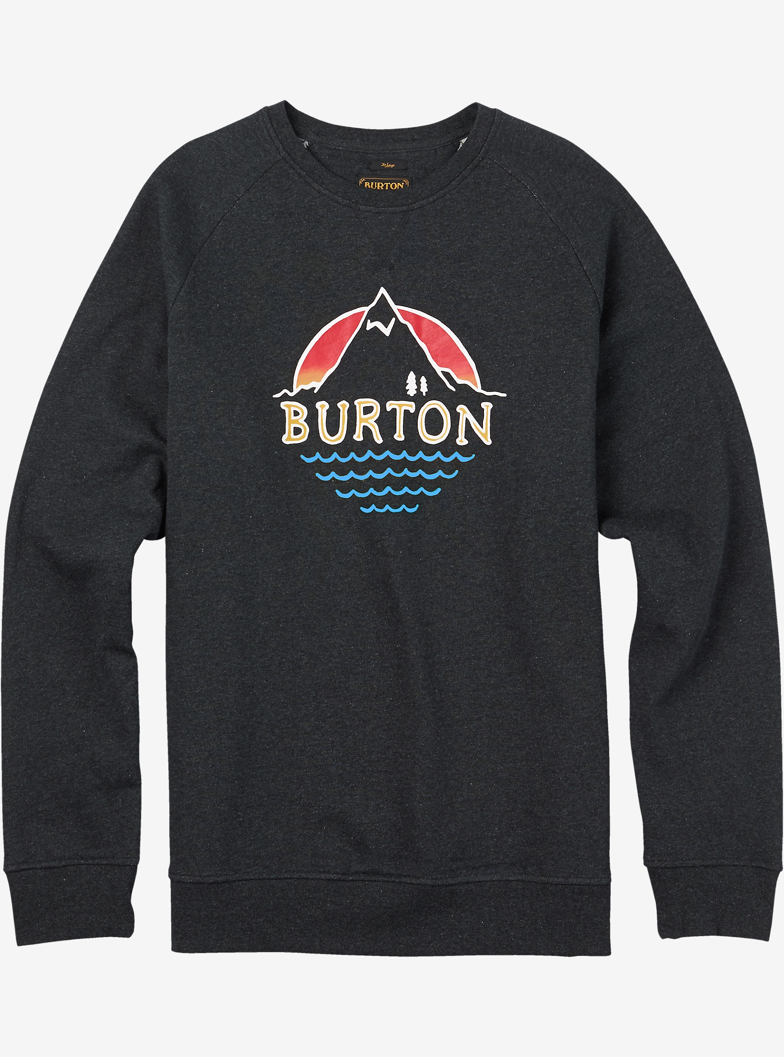 Burton Panorama Crew Pullover shown in True Black Heather