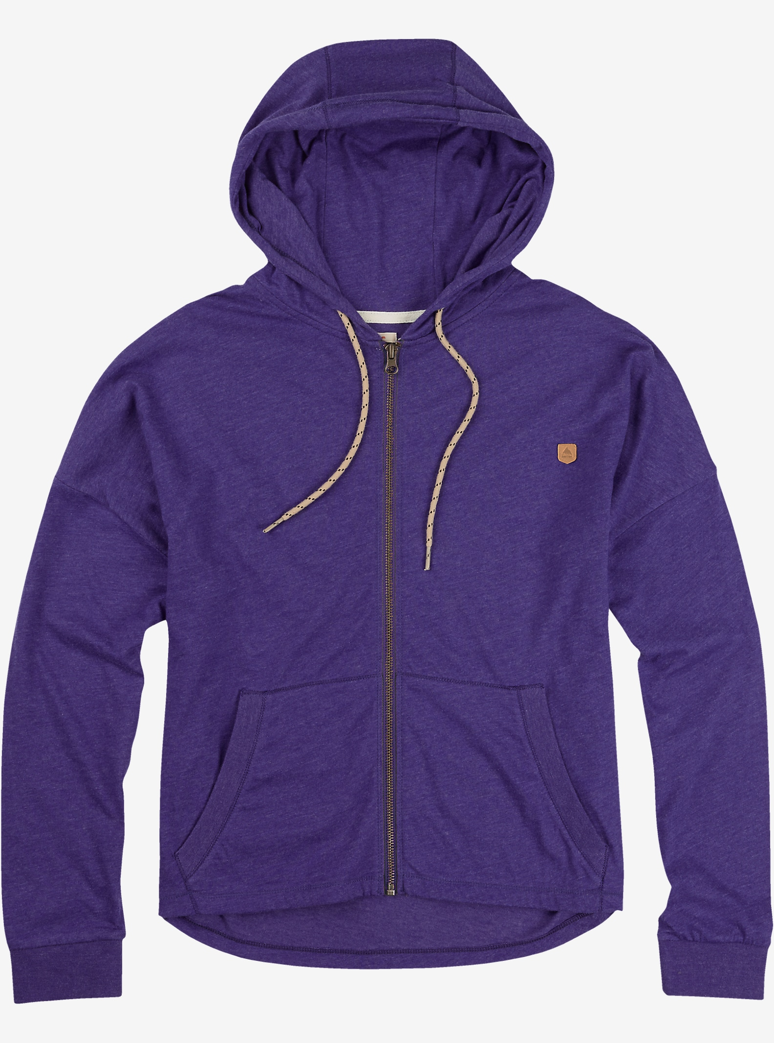 Burton Favorite Full-Zip Hoodie shown in Purple Heather