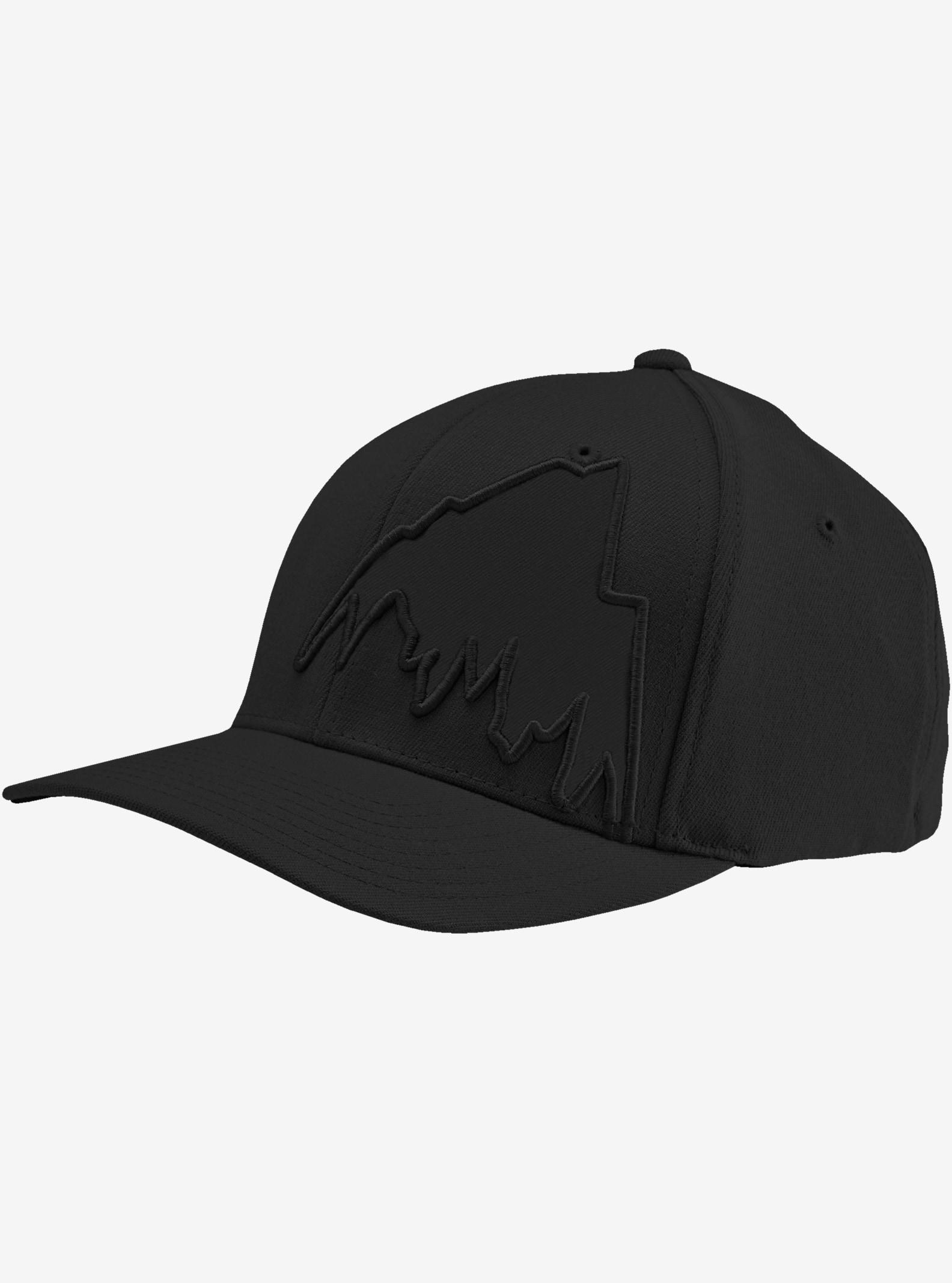 Burton Slidestyle MTN Flex Fit Hat shown in True Black
