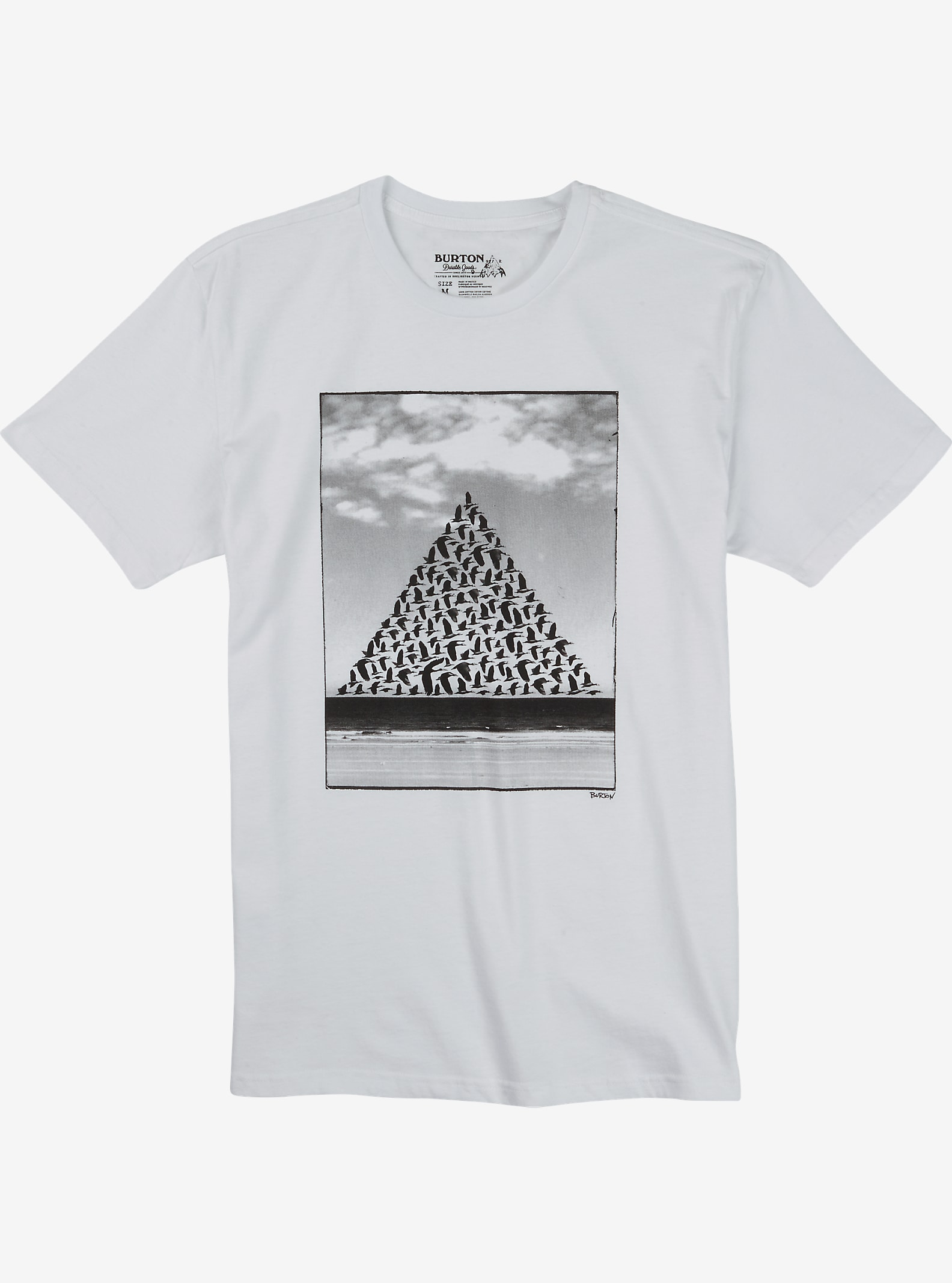 Burton Smith Slim Fit Short Sleeve T Shirt shown in Stout White