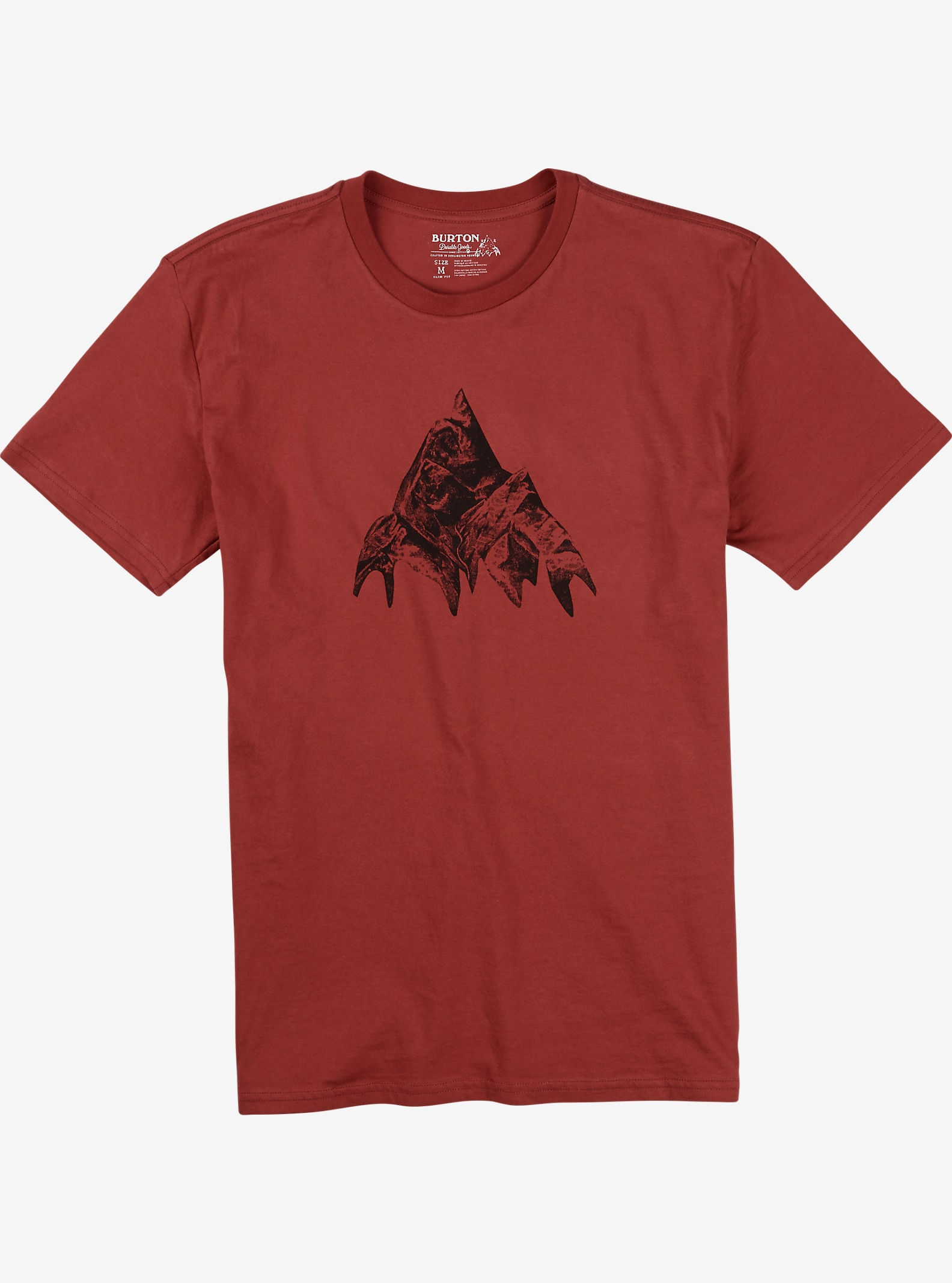 Burton Matterhorn Slim Fit Short Sleeve T Shirt shown in Dusty Cedar